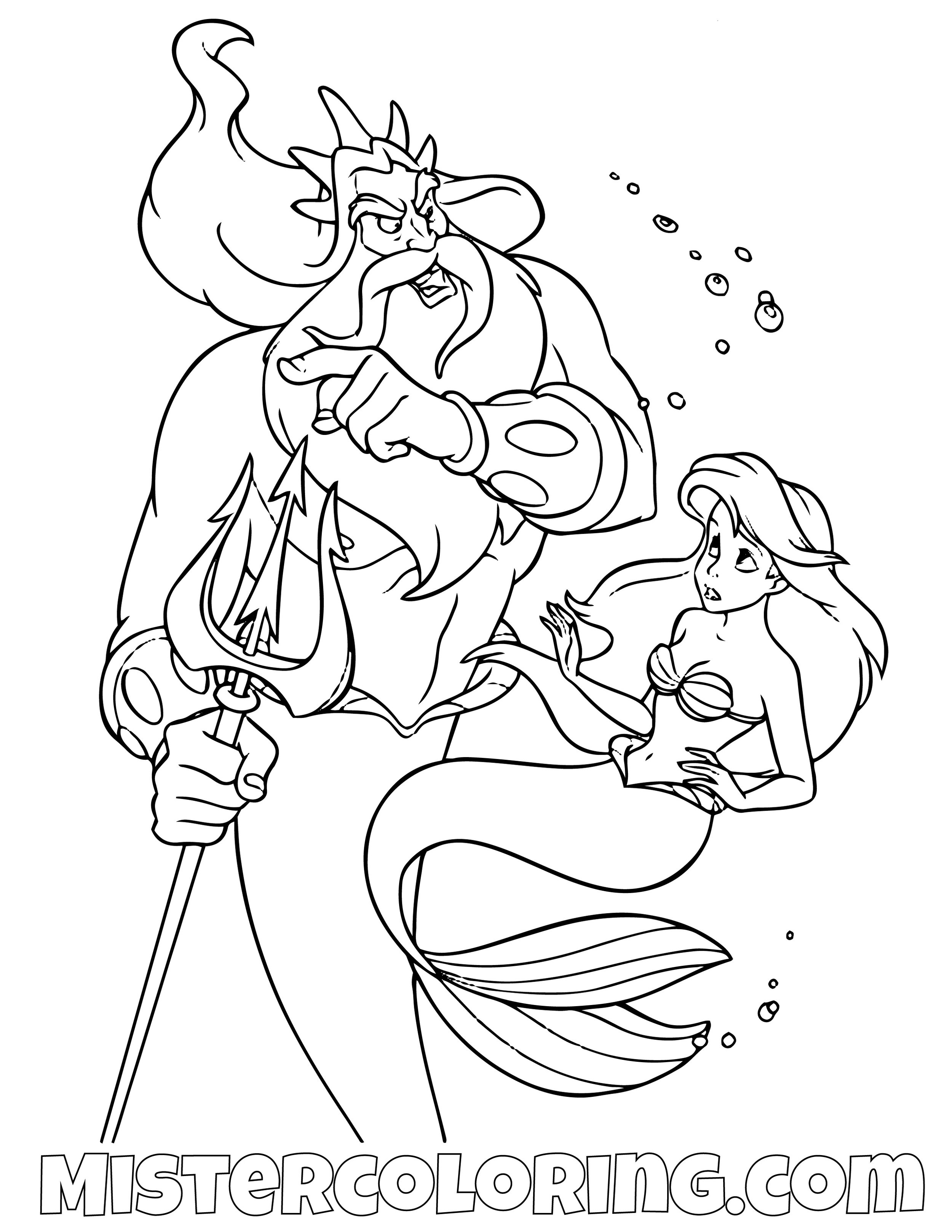 Ariel the Little Mermaid sitting on a rock coloring page   Little ...   1294x1000