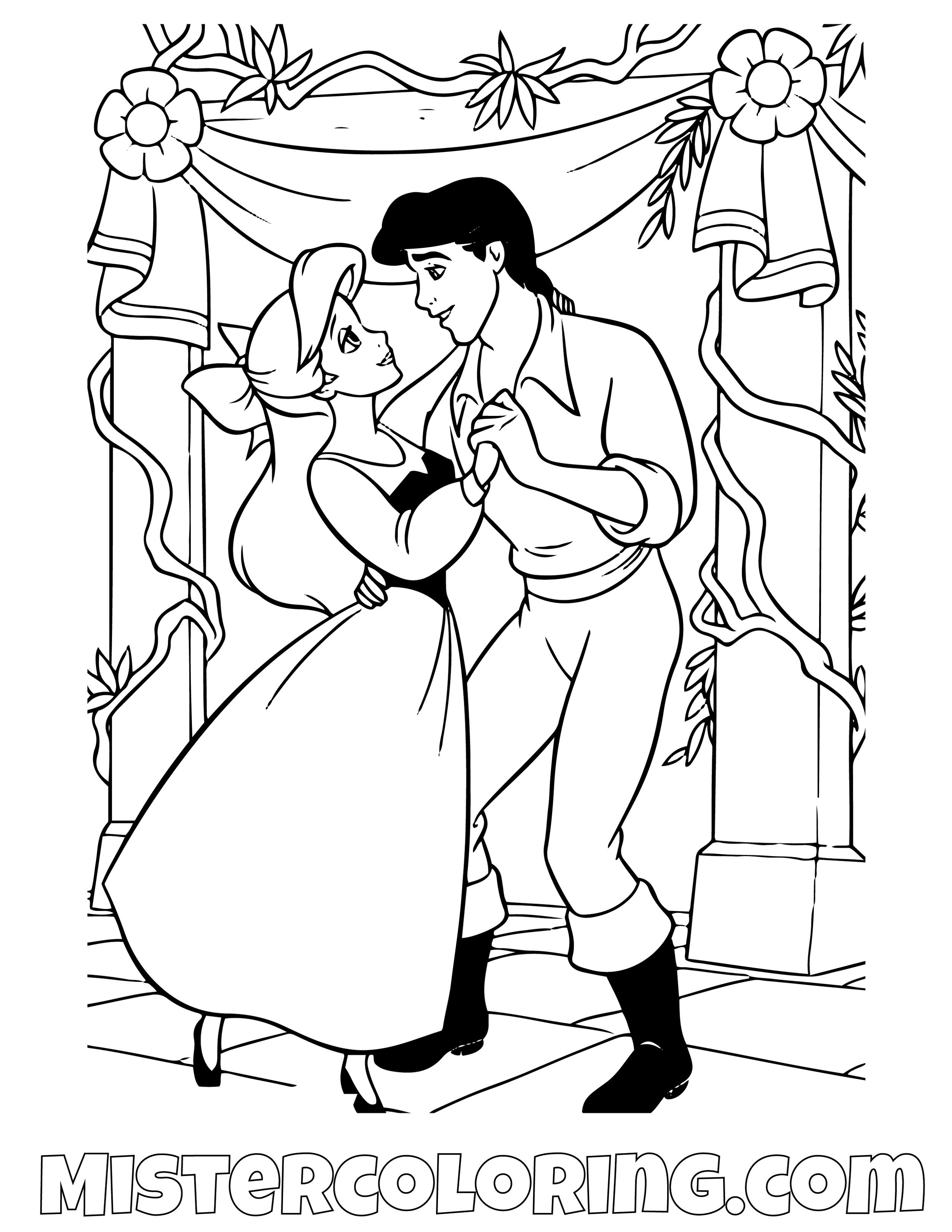 The Little Mermaid Coloring Pages Mister Coloring