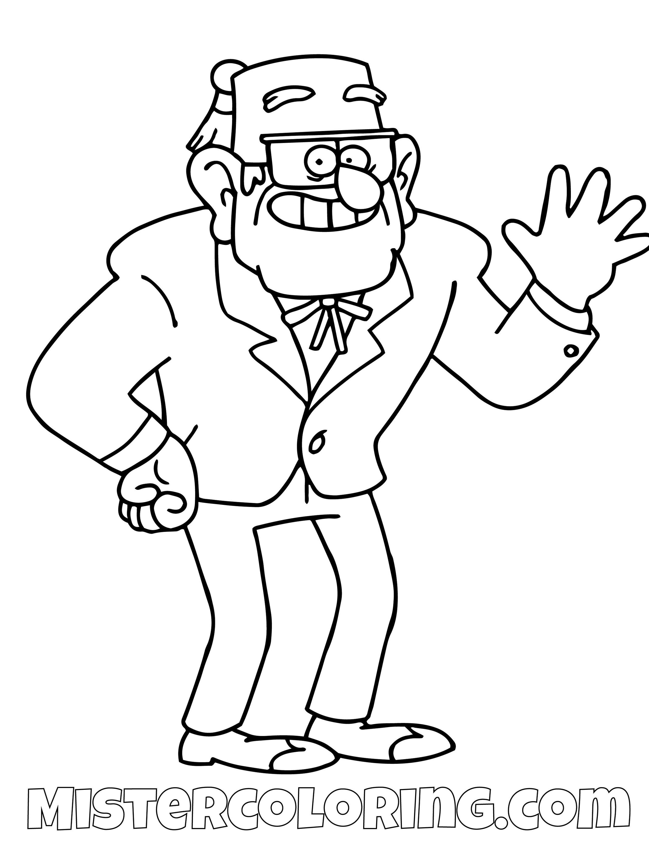 Grunkle Stan Gravity Falls Coloring Pages
