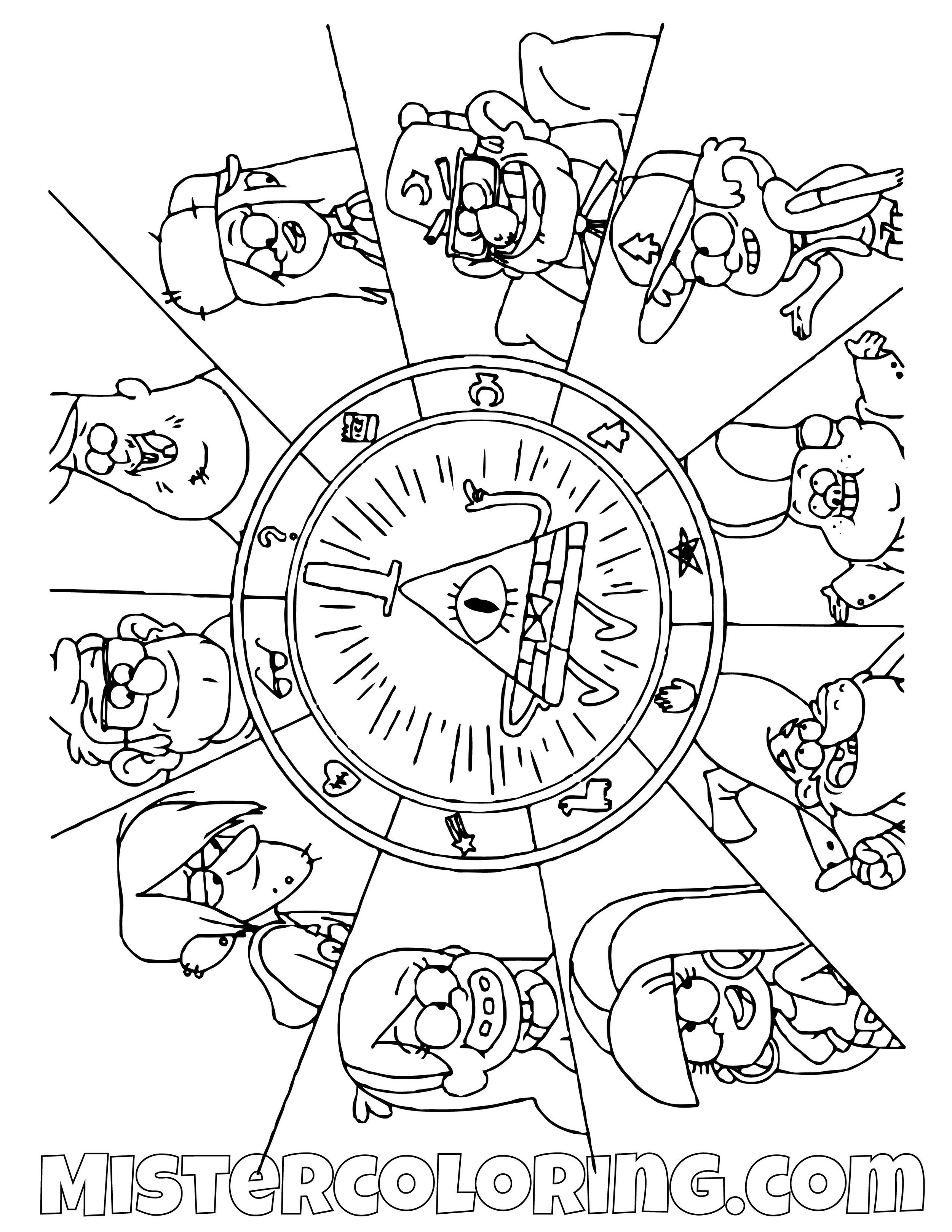 Gravity Falls Main Character Coloring Pages