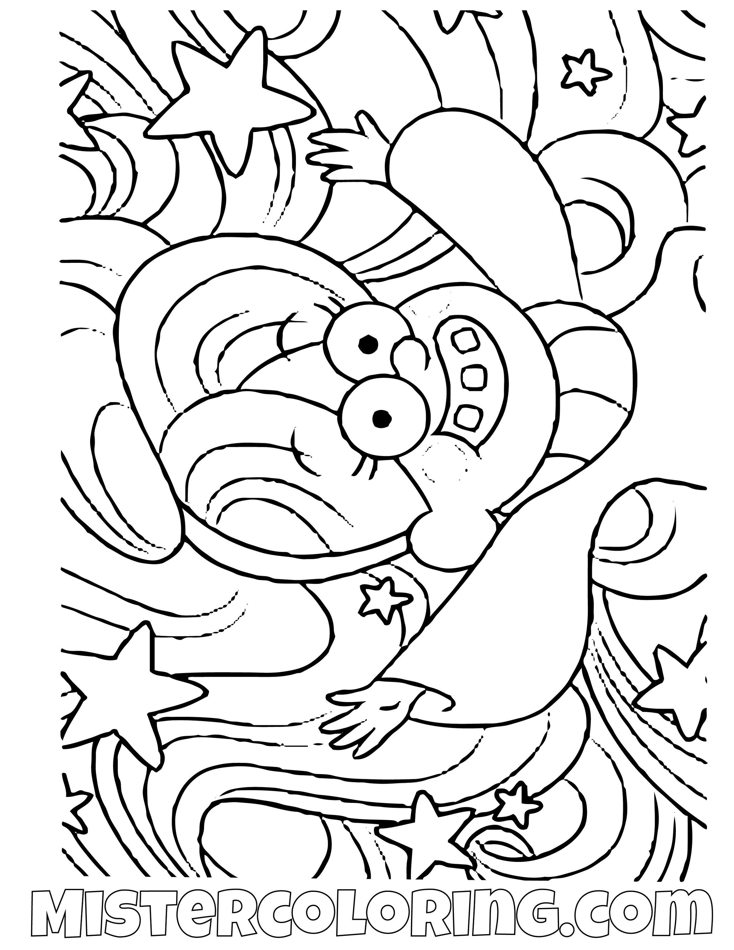Mabel Pines Hair Gravity Falls Coloring Pages