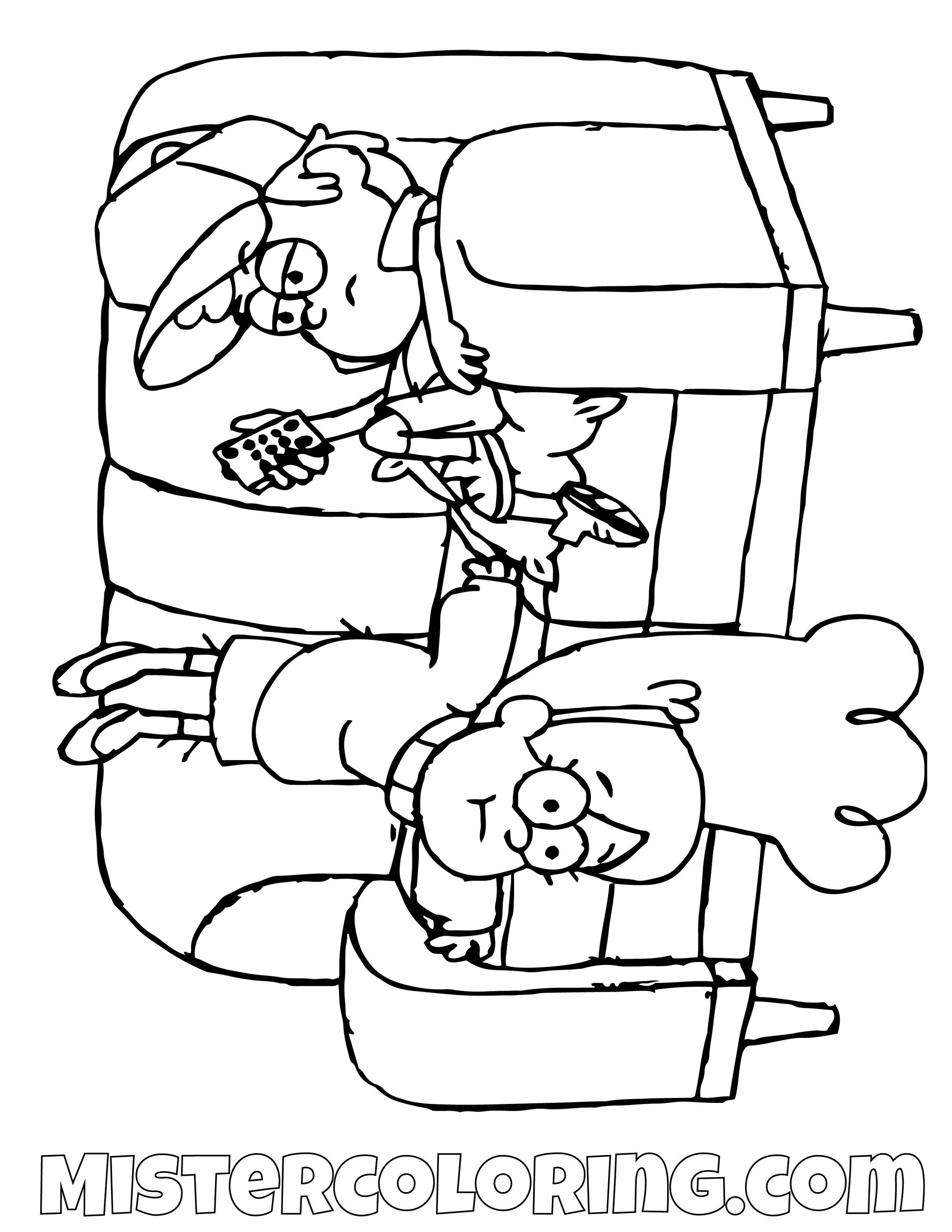 Dipper And Mabel Pines On Sofa Gravity Falls Coloring Pages