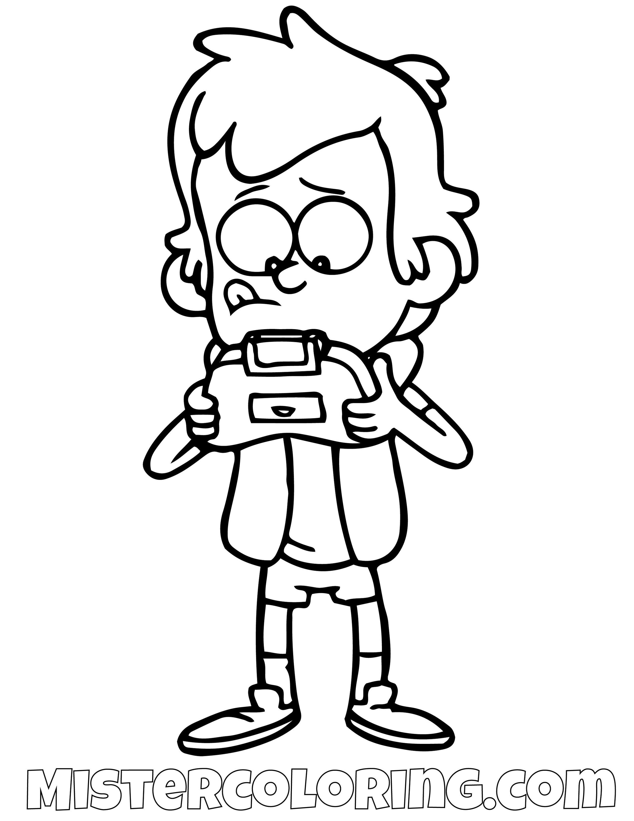 Dipper Pines Playing Video Games Gravity Falls Coloring Pages