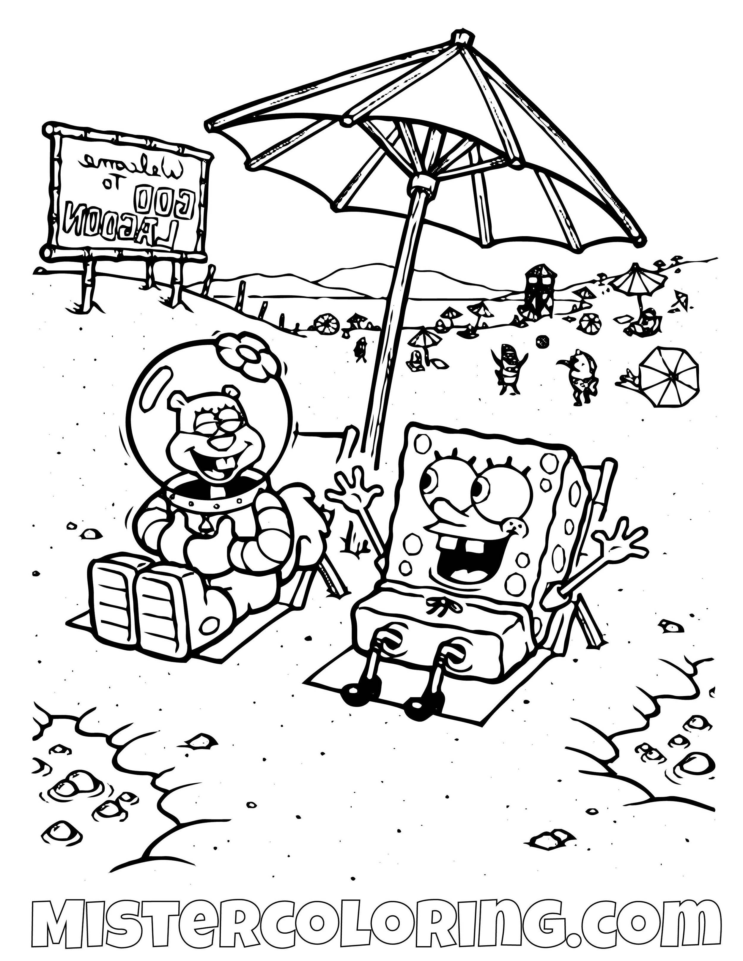coloring pages : Spongebob Coloring Pages Spongebob Coloring ... | 1294x1000