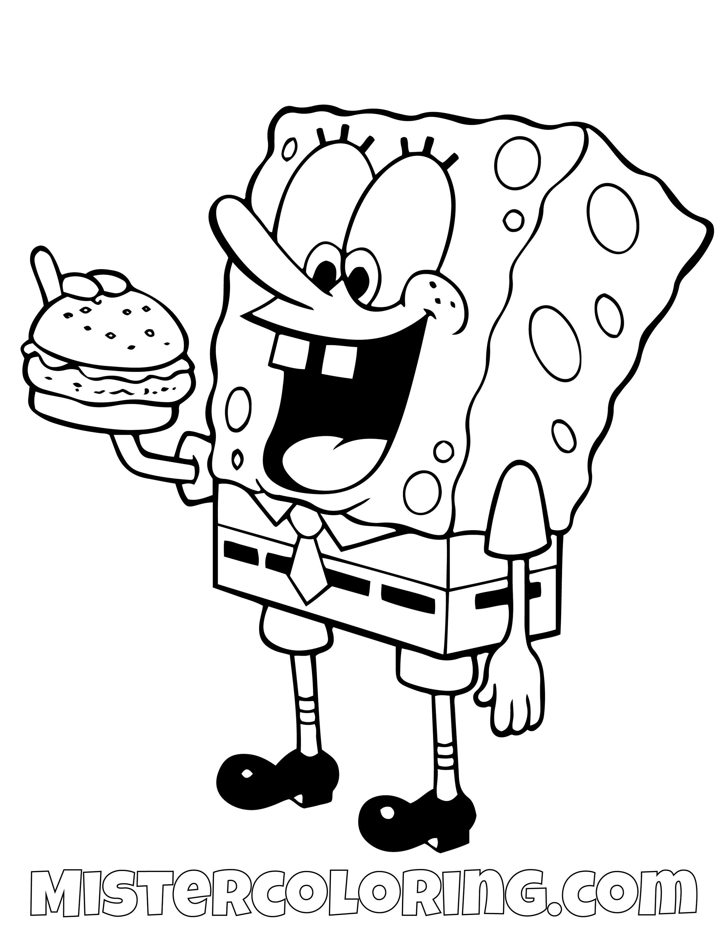 Free Printable Spongebob Squarepants Coloring Pages For Kids ... | 1294x1000