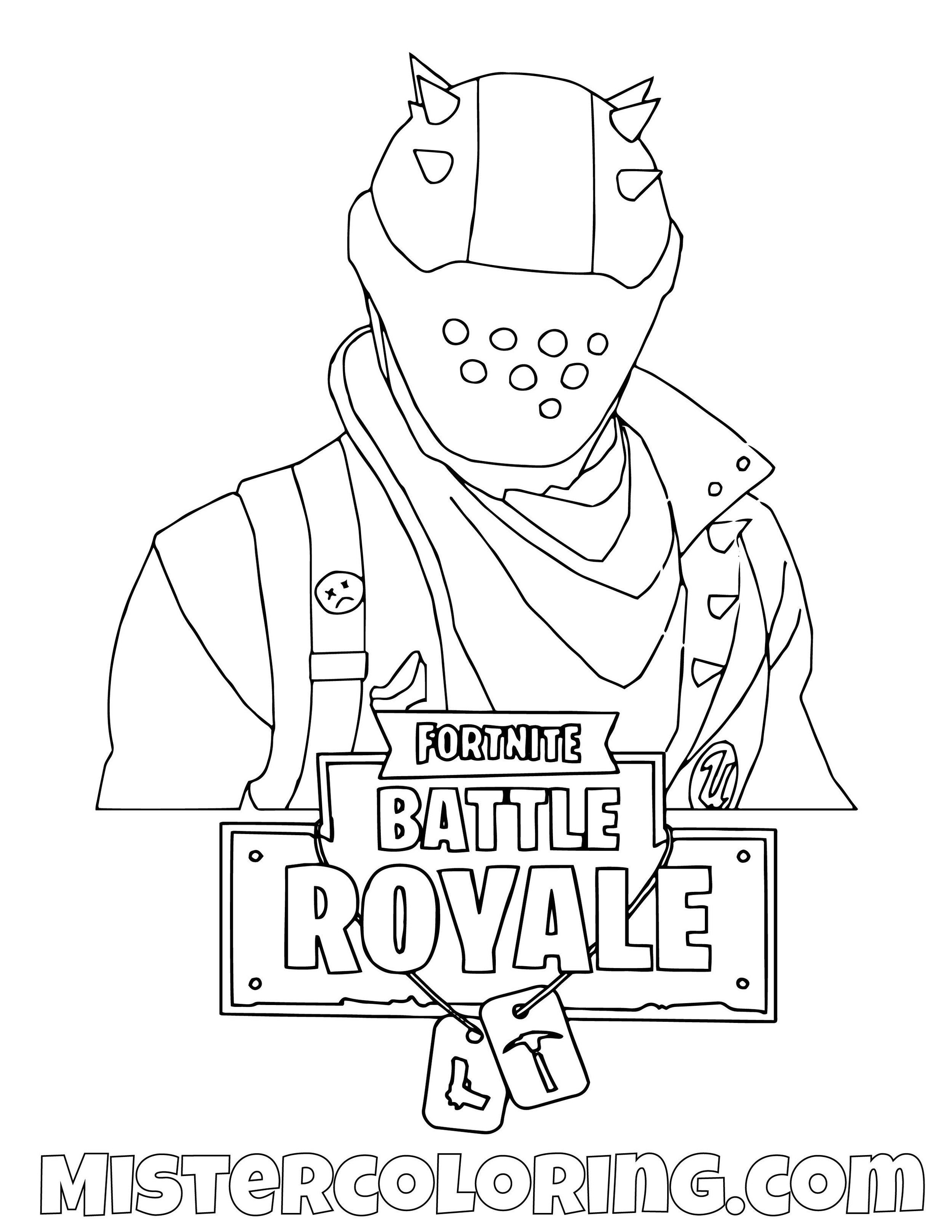 Rust Lord Fortnite Coloring Page
