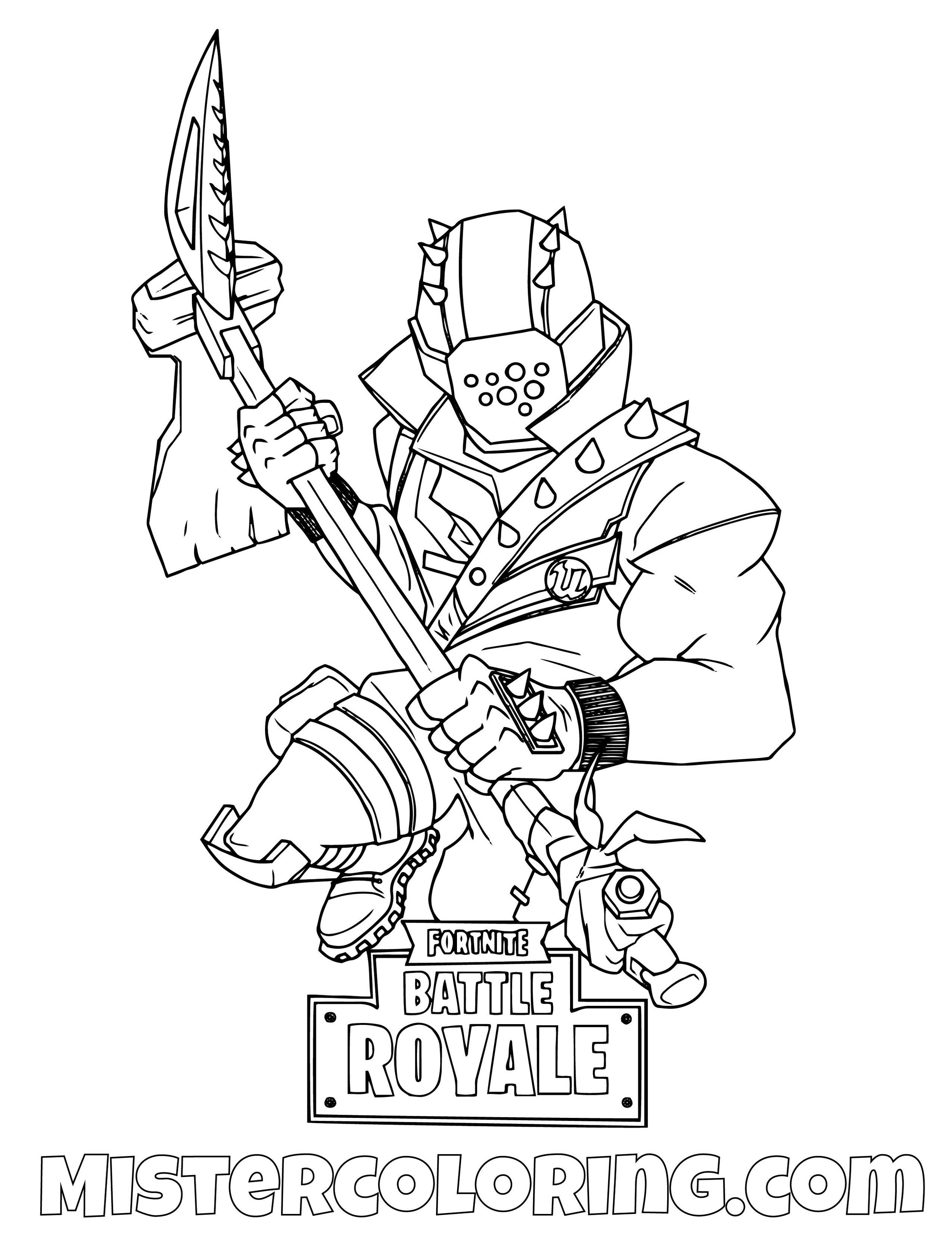 Rust Lord Pickaxe Fortnite Coloring Page