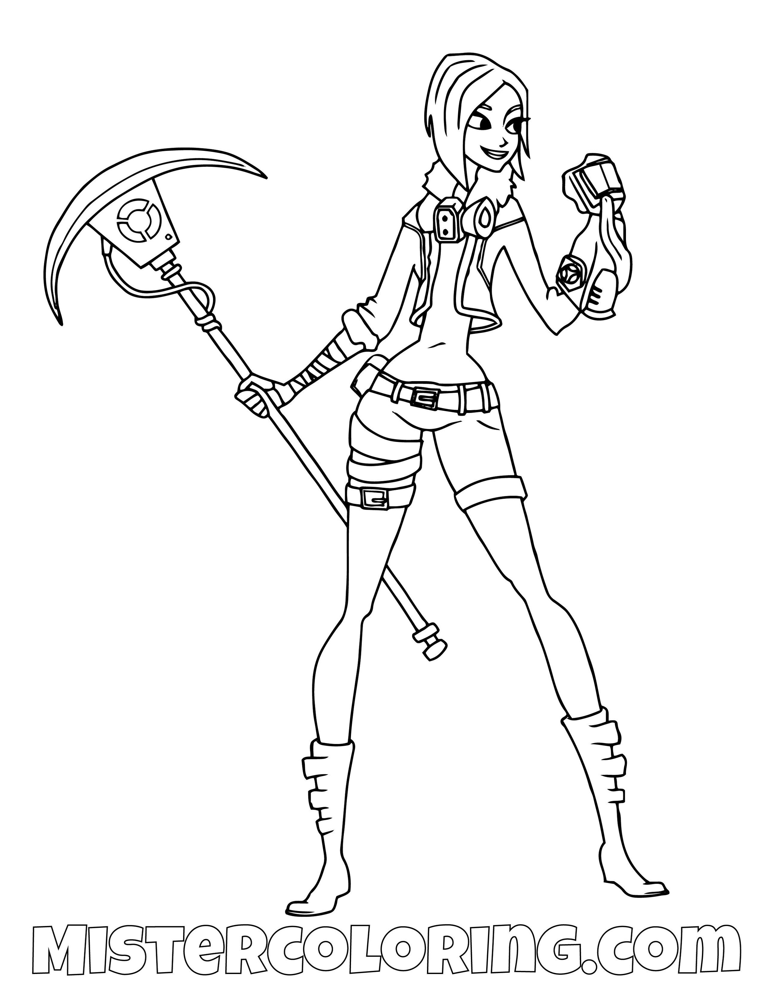 Save The World 2 Fortnite Coloring Page
