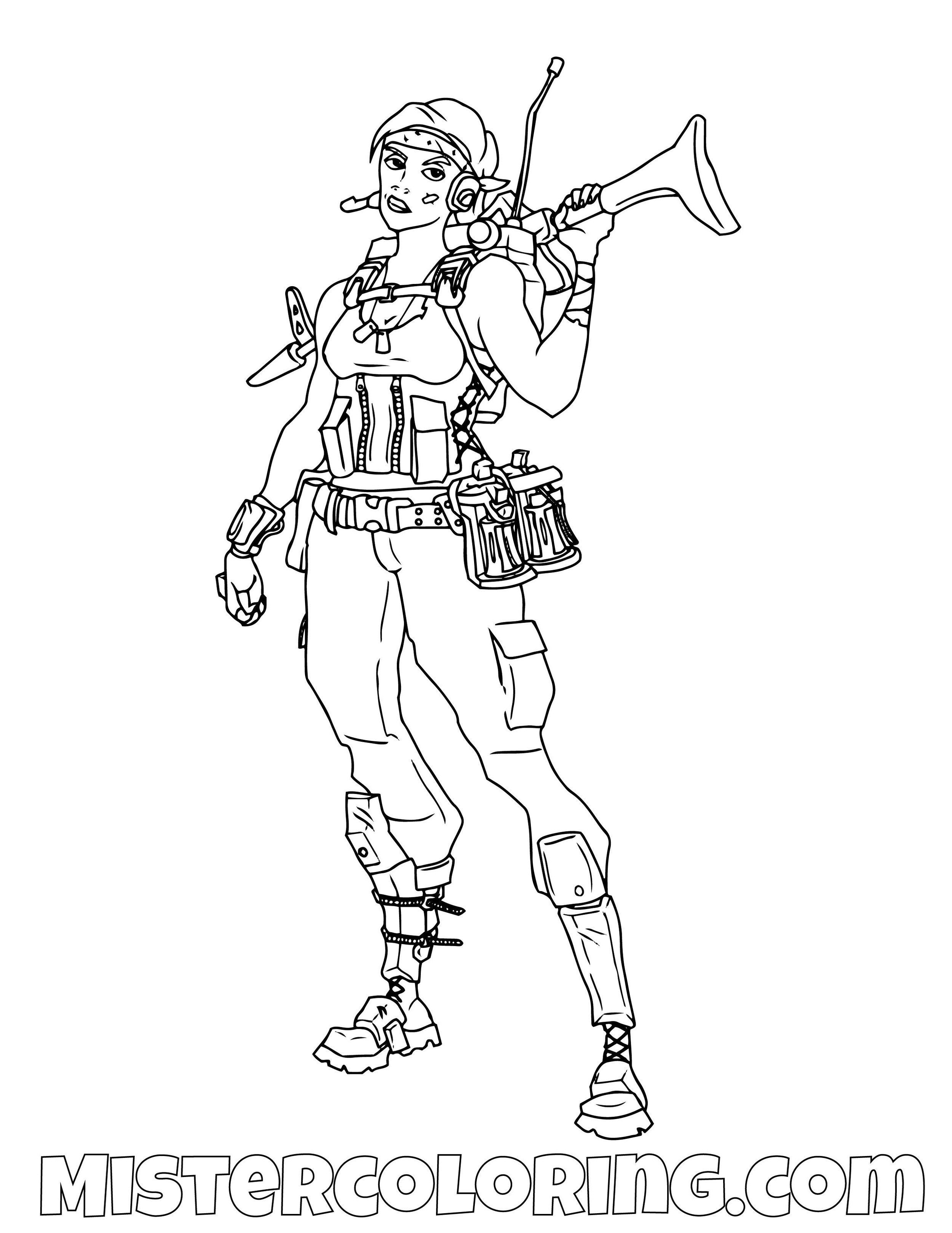 Save The World 3 Fortnite Coloring Page