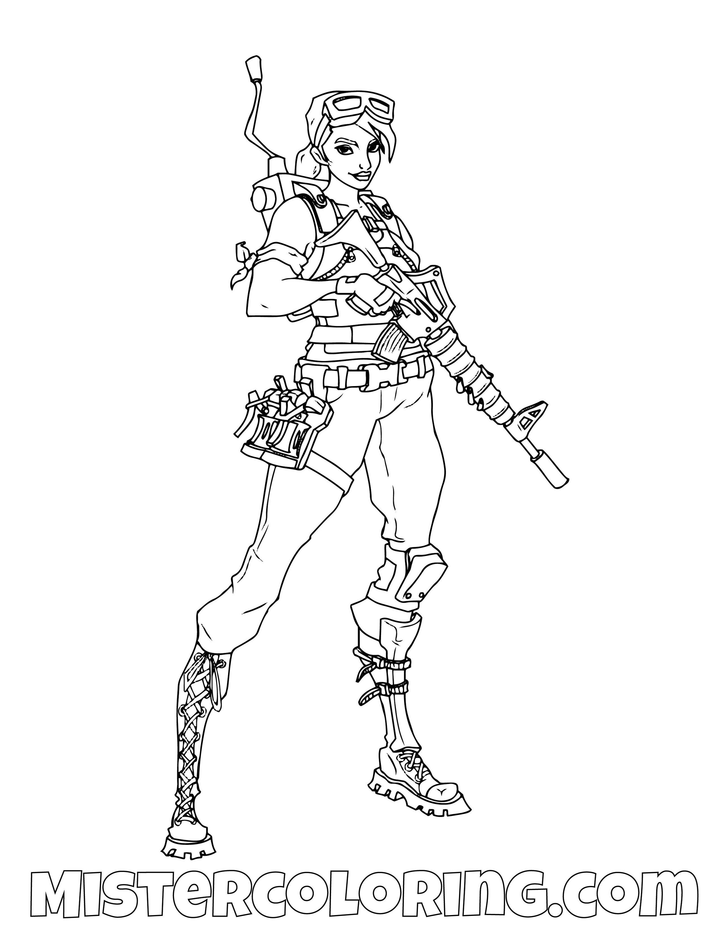 Save The World 4 Fortnite Coloring Page