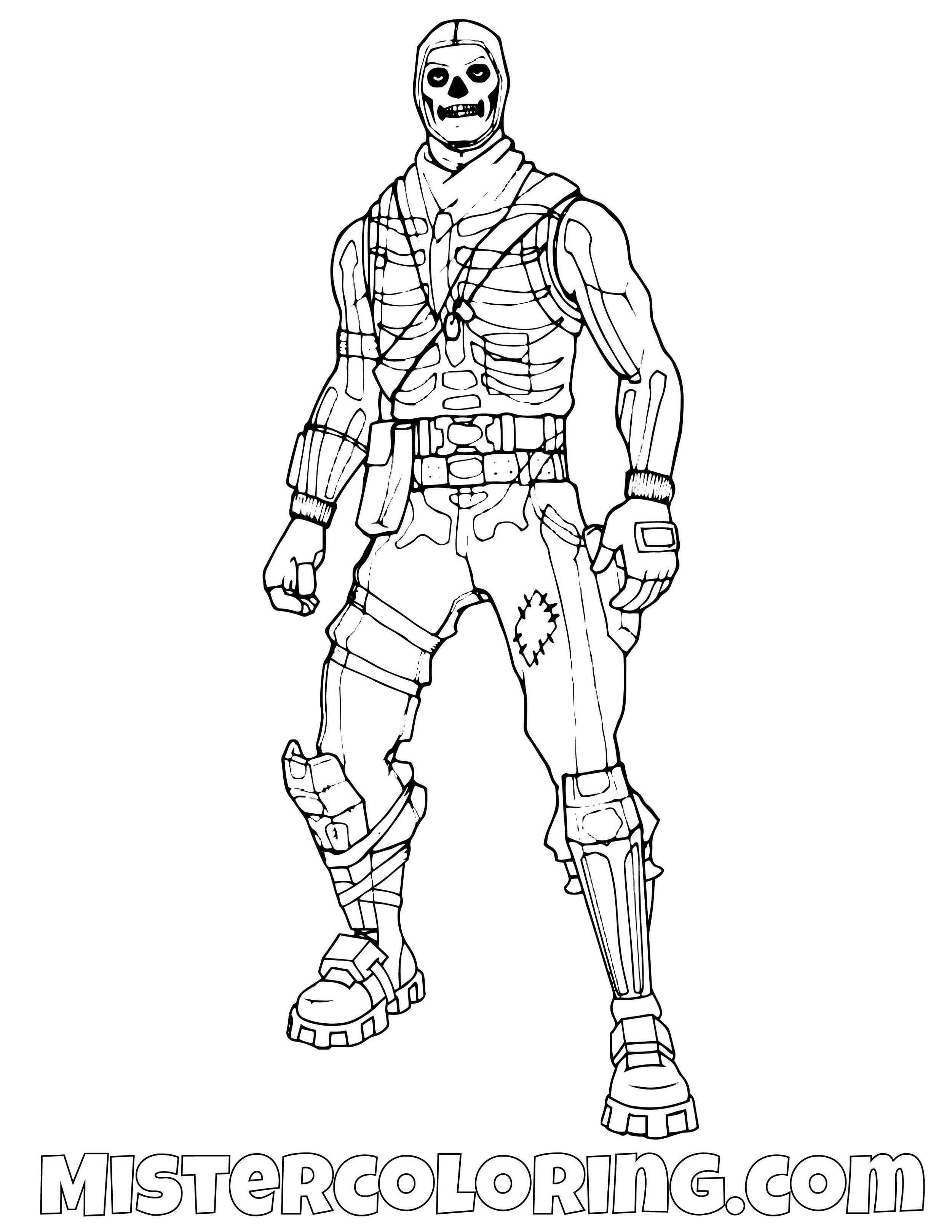 Skull Trooper Fortnite Coloring Page