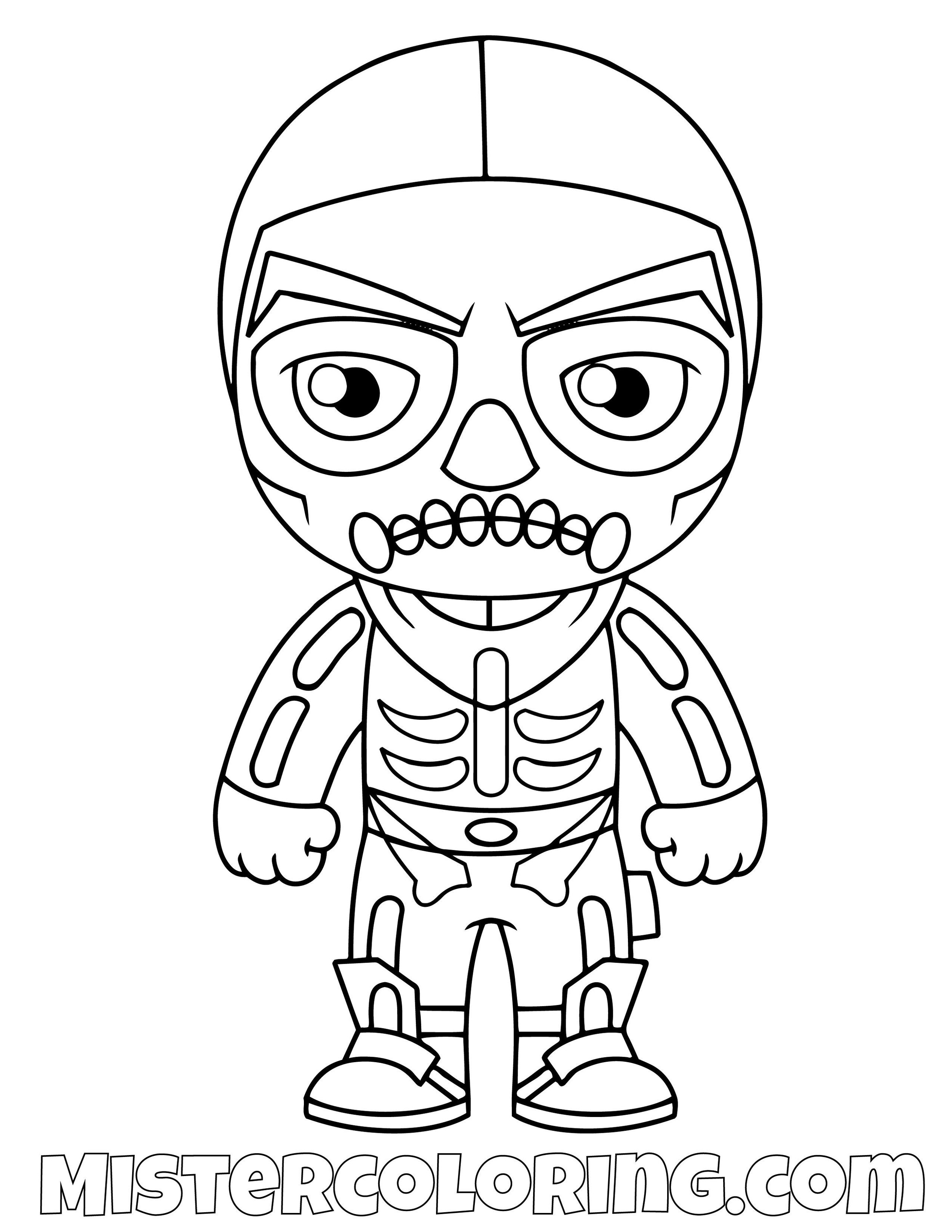 Skull Trooper Fortnite Skin Coloring Page