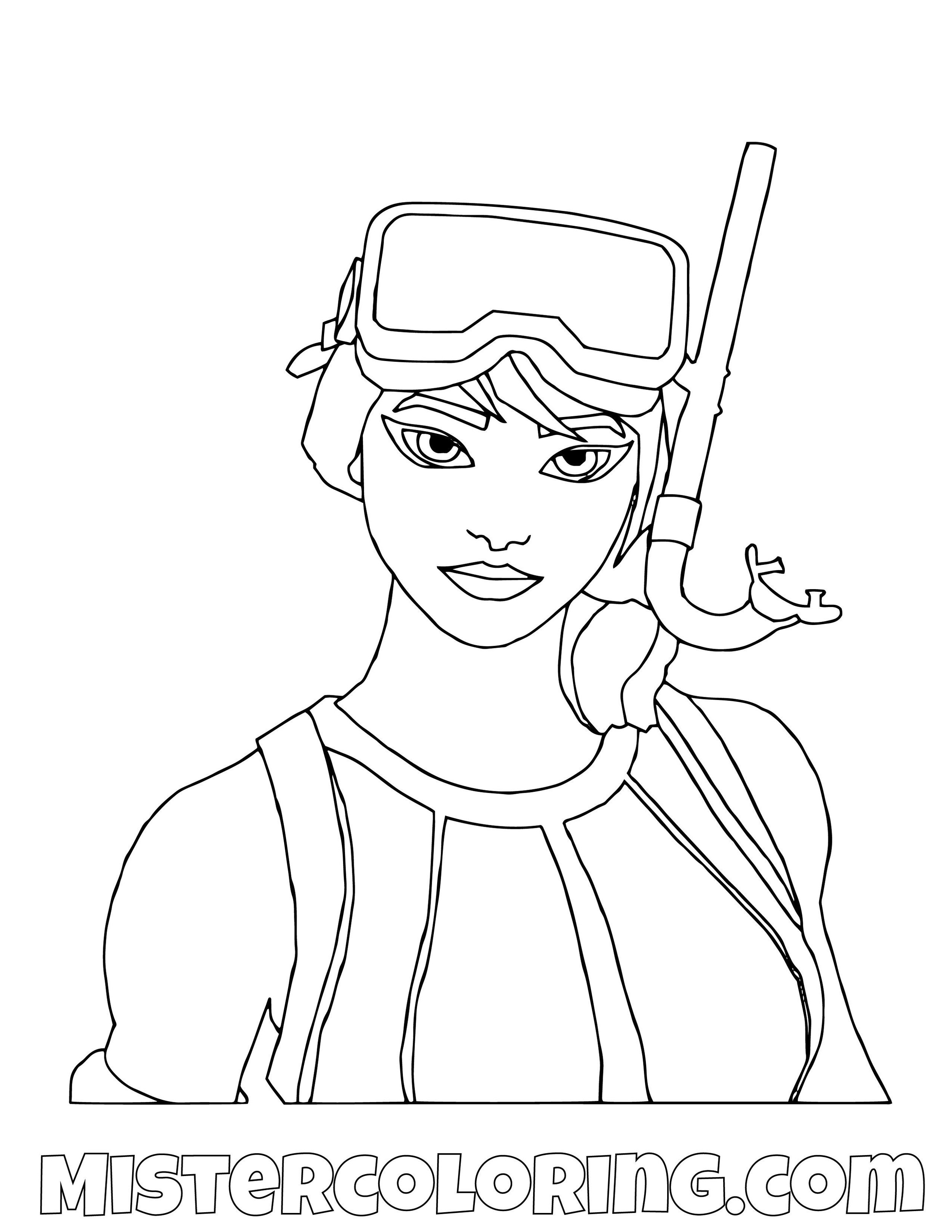 Snork Ops Fortnite Coloring Page