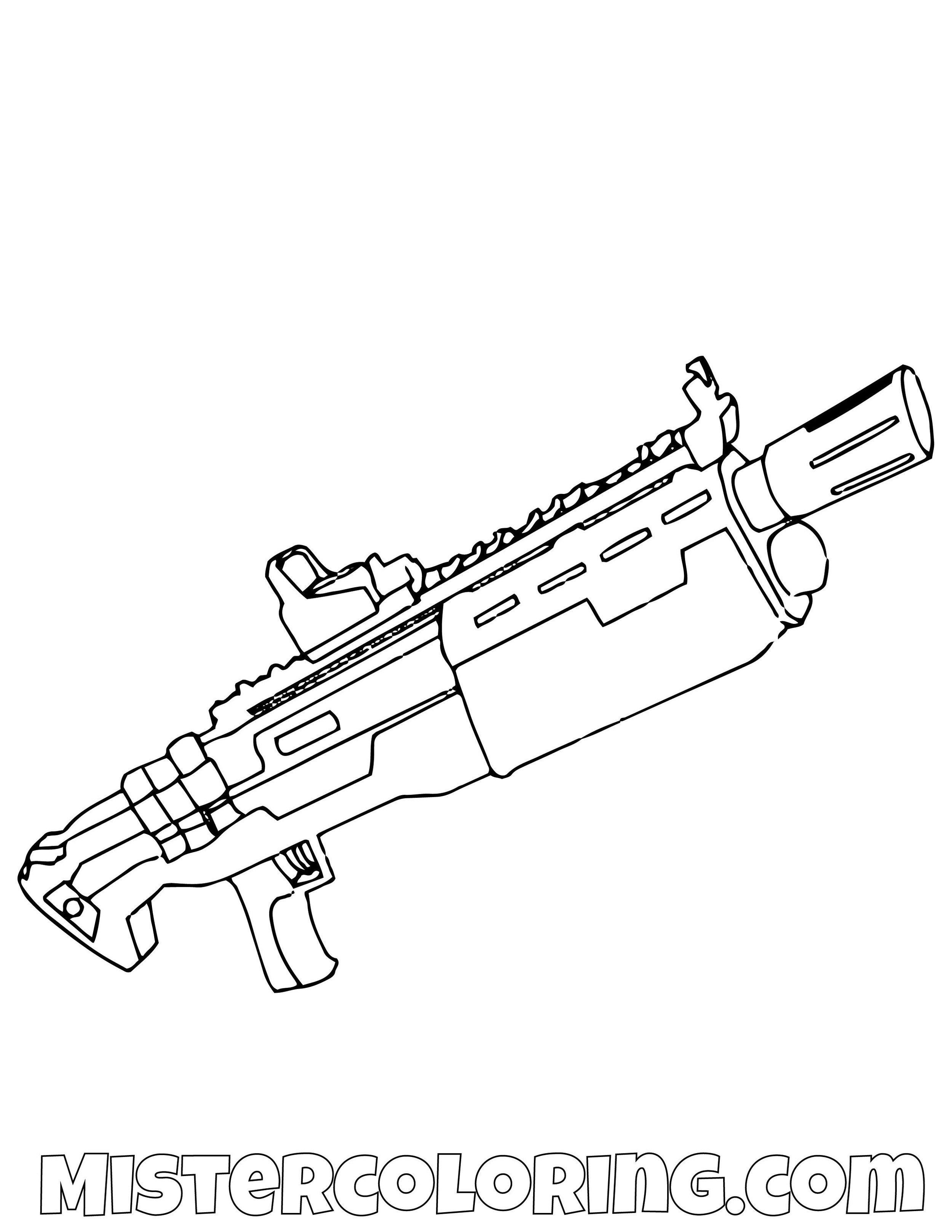 Tac Shotgun Fortnite Coloring Page