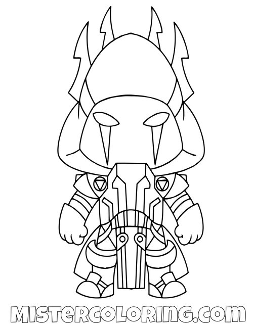 Fortnite Coloring Pages For Kids Mister Coloring