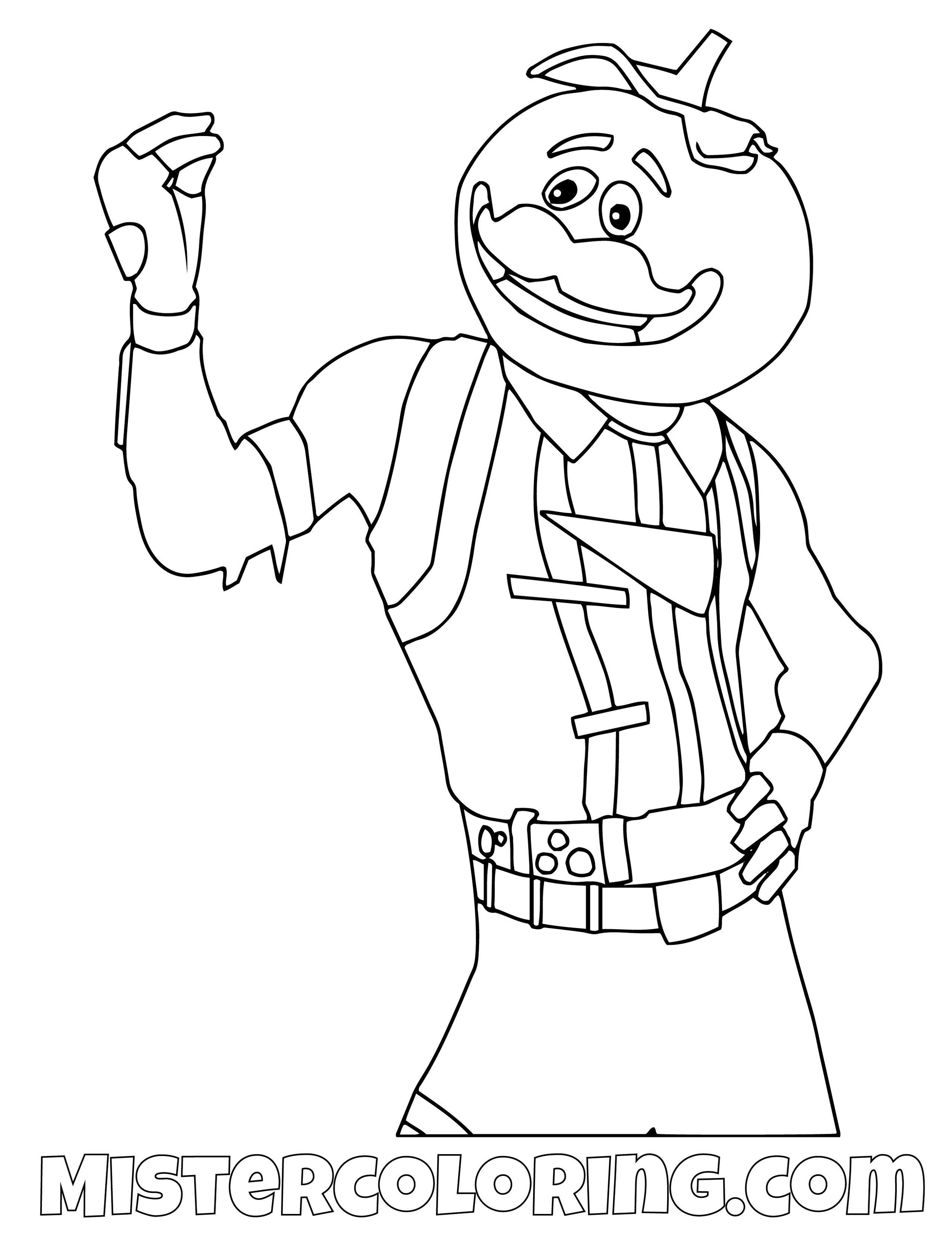 Tomatoe Head Finger Snap Fortnite Coloring Page