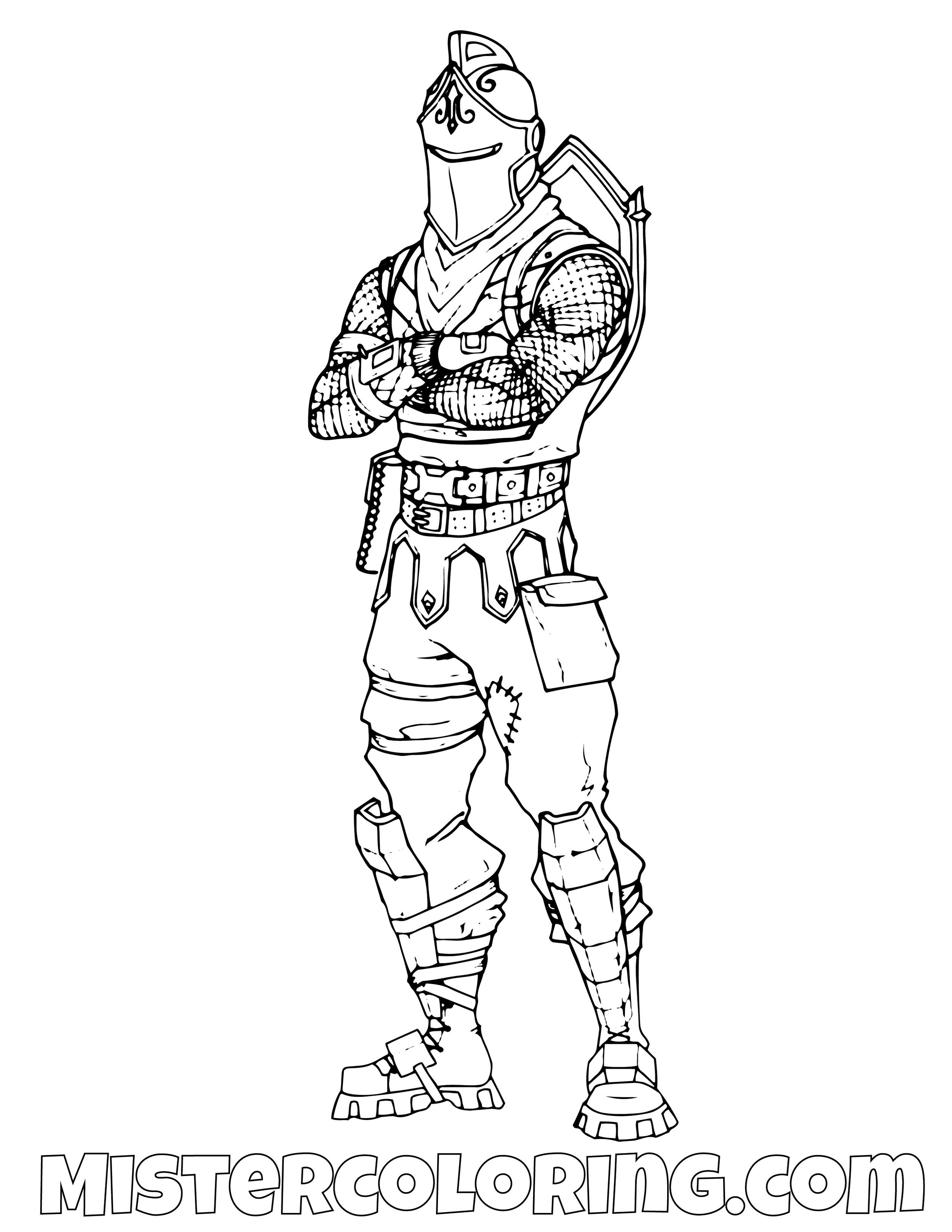 Black Knight Posing Fortnite Coloring Page