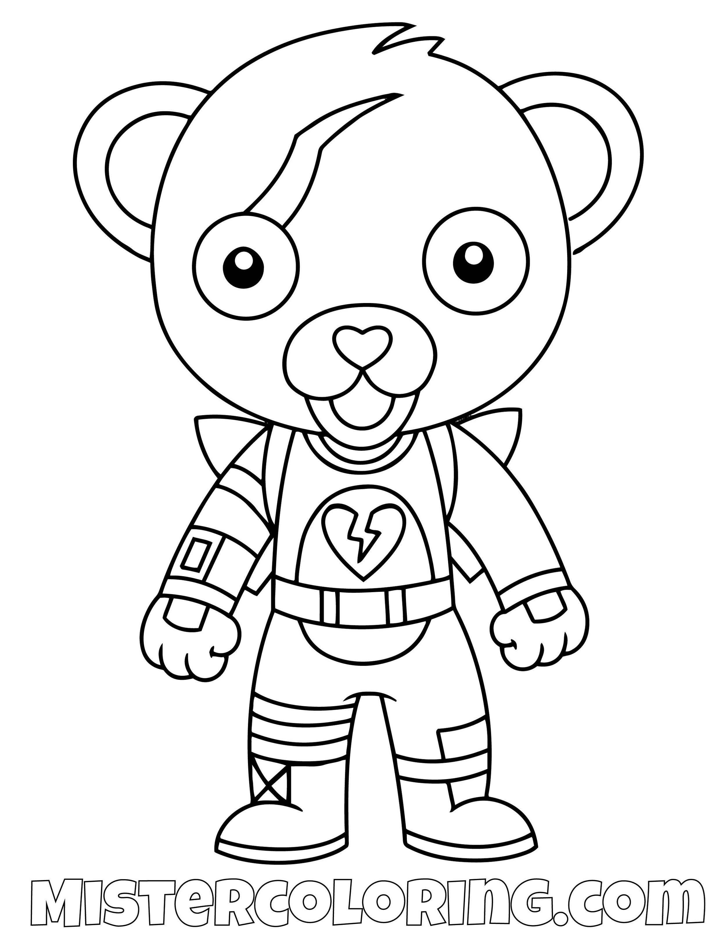 Cuddle Team Leader Chibi Fortnite Coloring Page