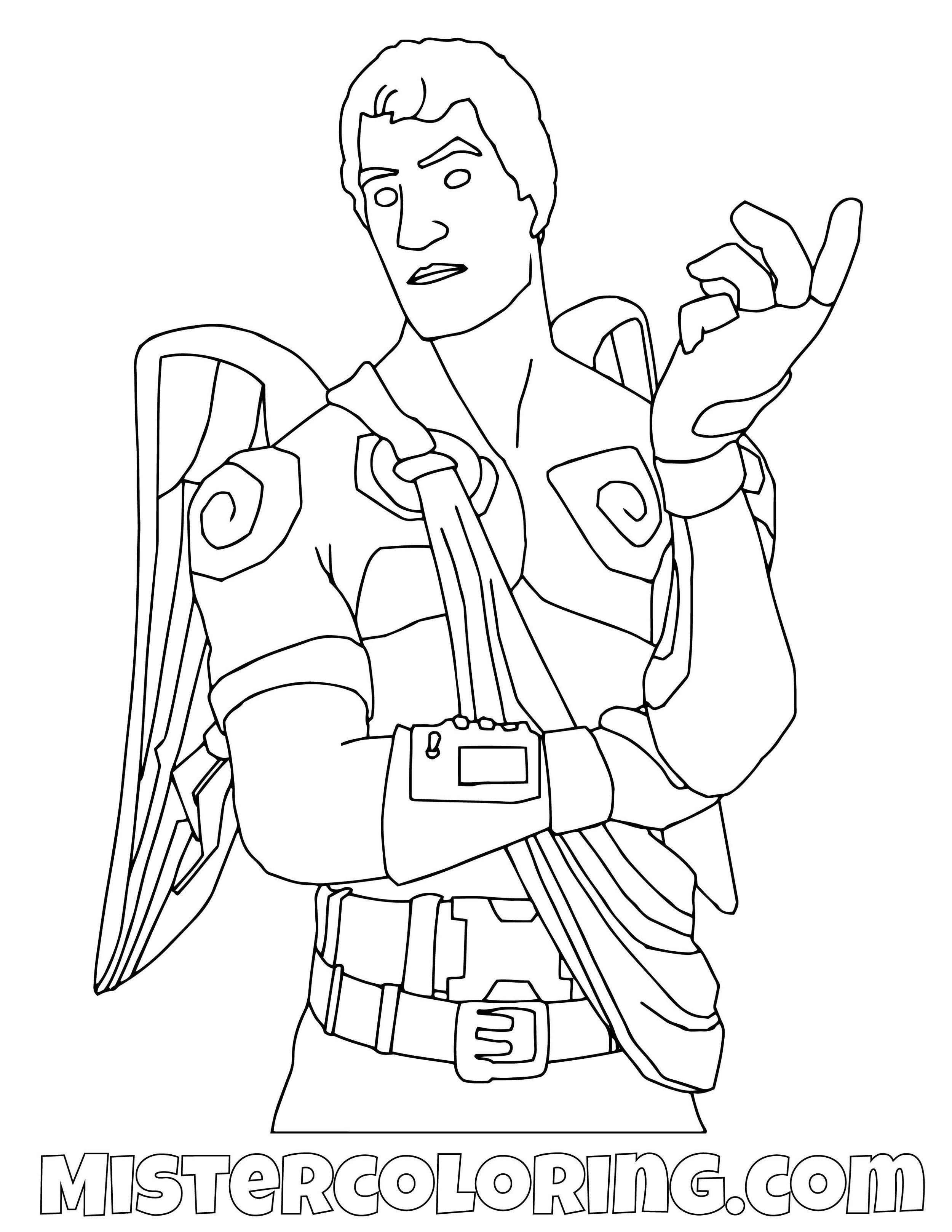 Dark Love Ranger Fortnite Coloring Page