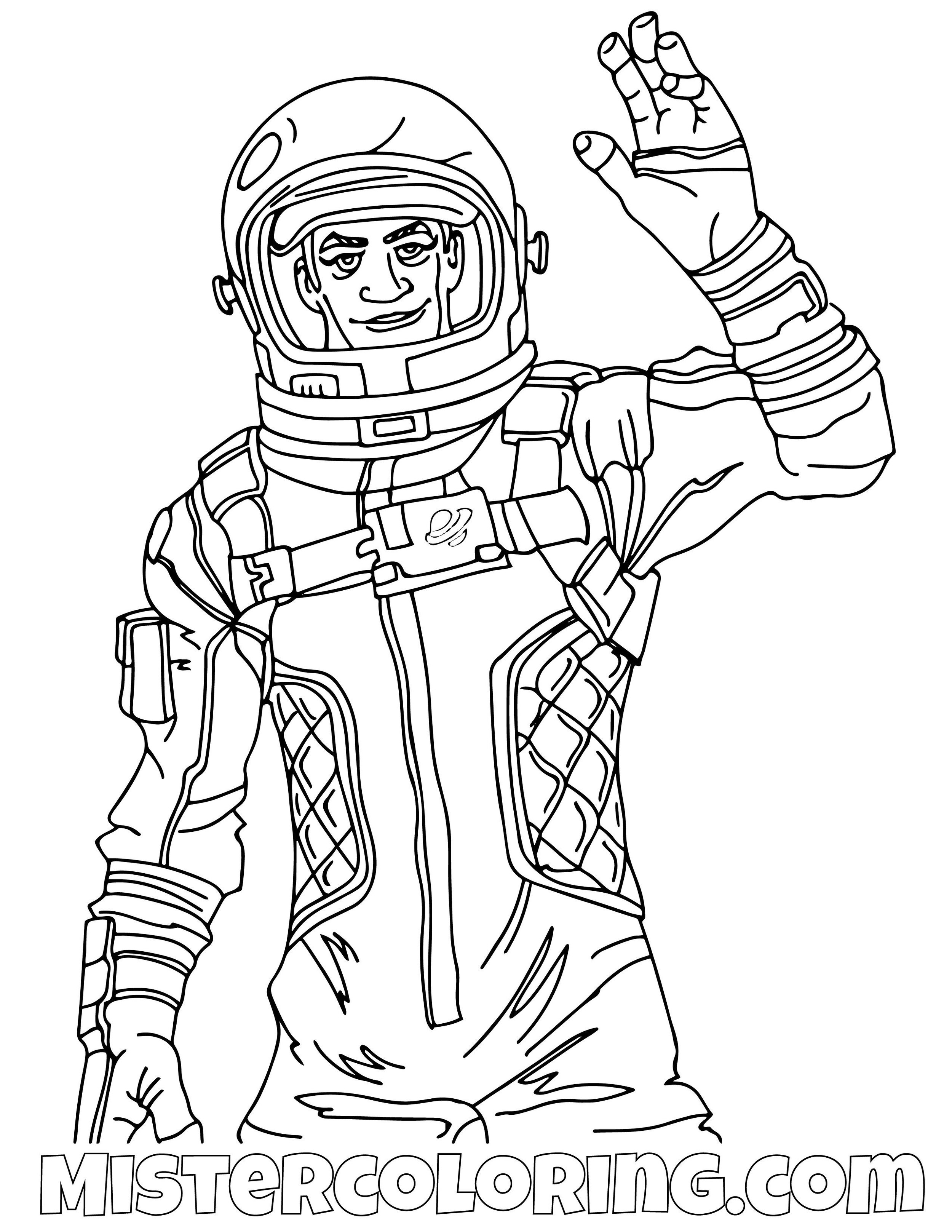 Dark Voyager Reveal Fortnite Coloring Page