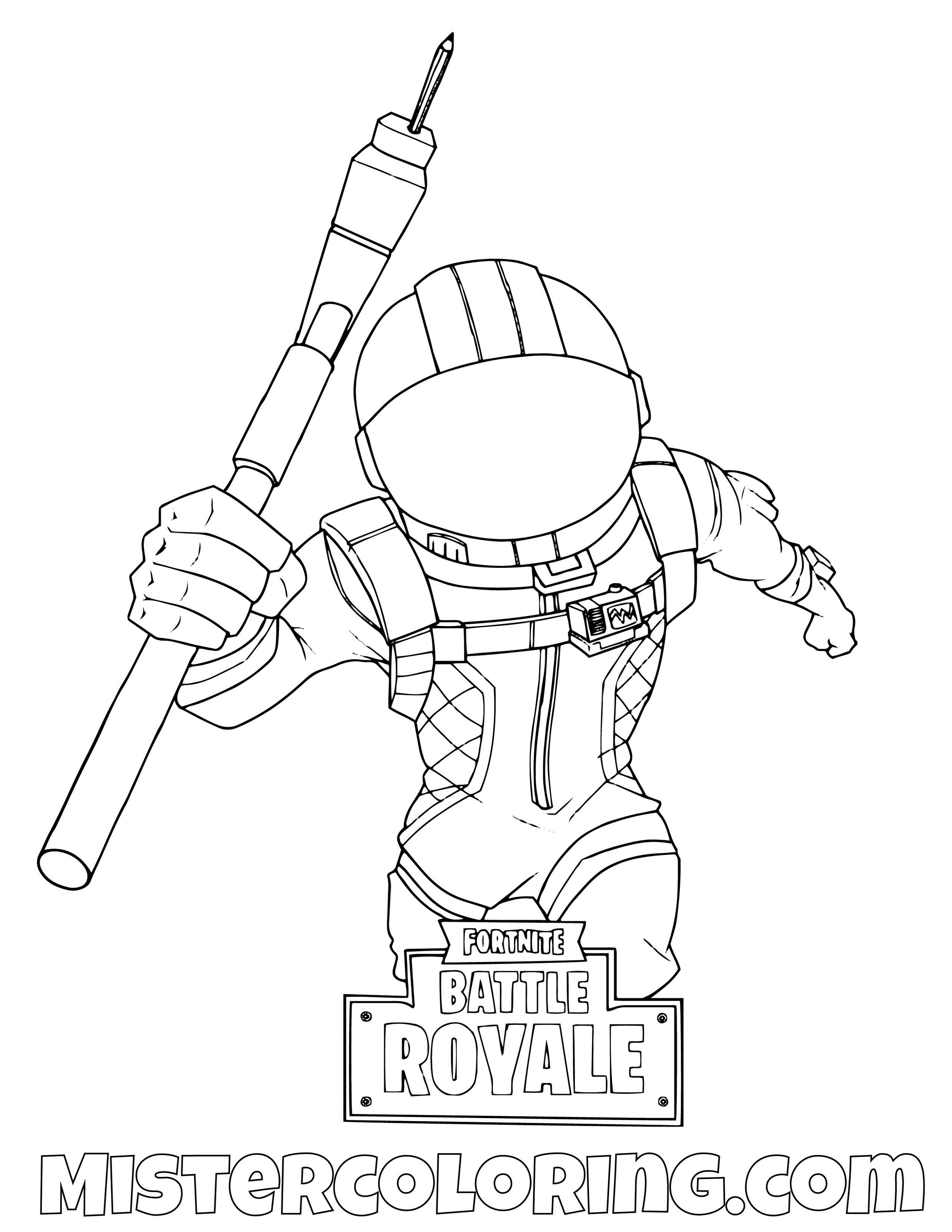 Dark Voyager Running Fortnite Coloring Page