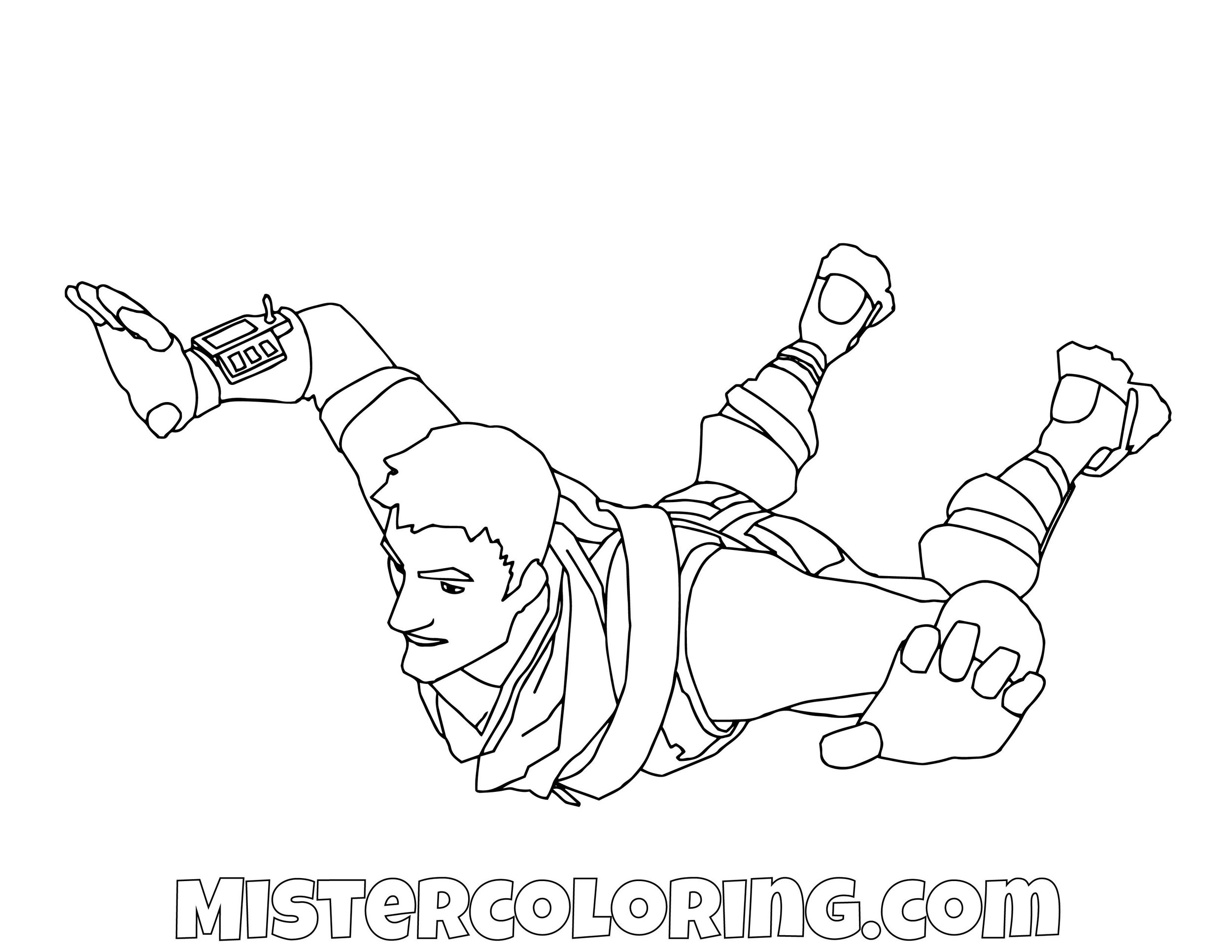 Default Flying Fortnite Coloring Page