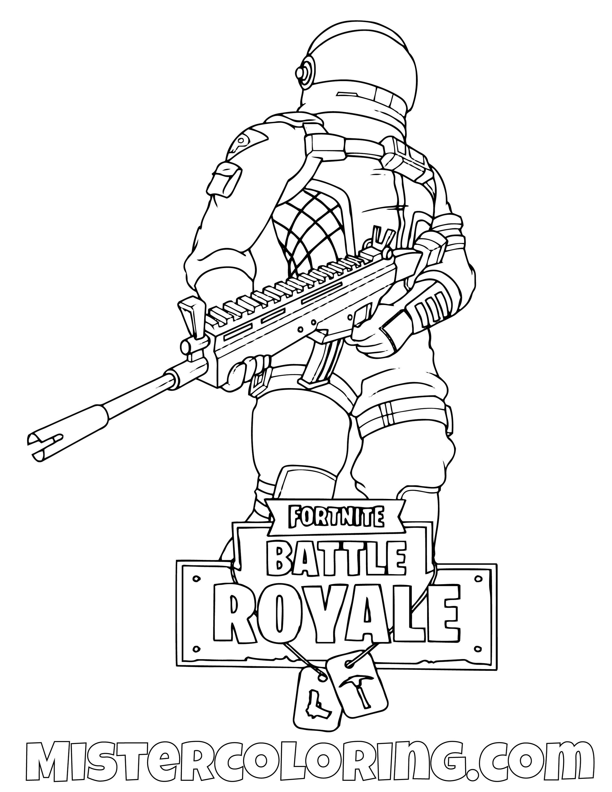 Dark Voyager With Scar Fortnite Coloring Page