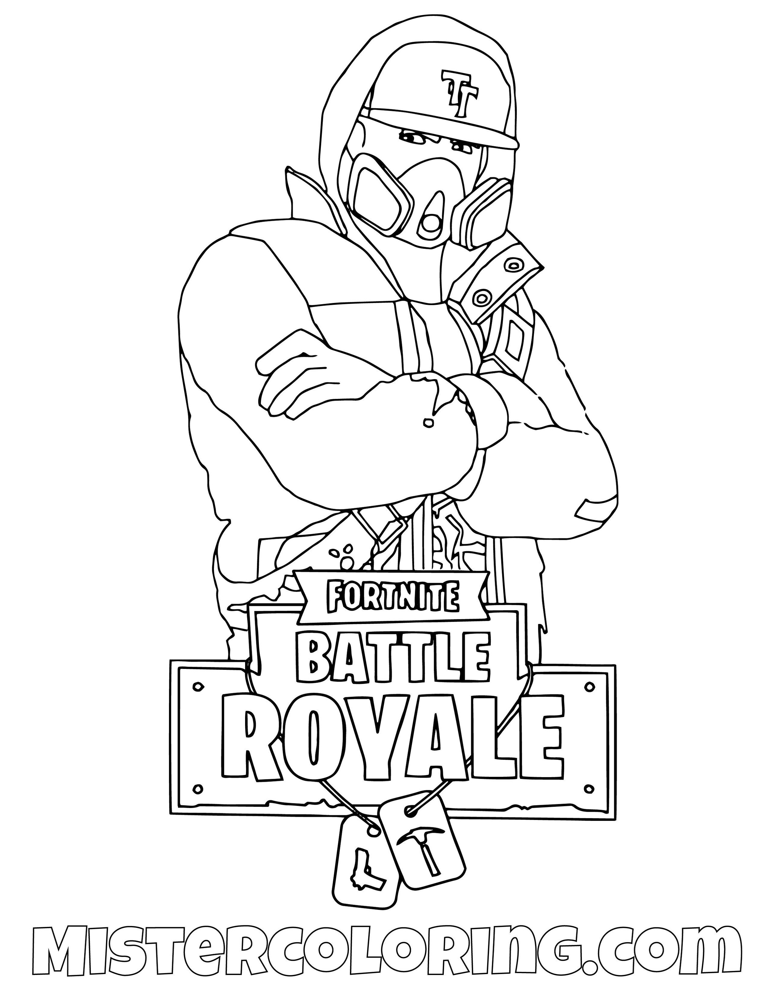 Drift Level 1 Fornite Skin Coloring Page