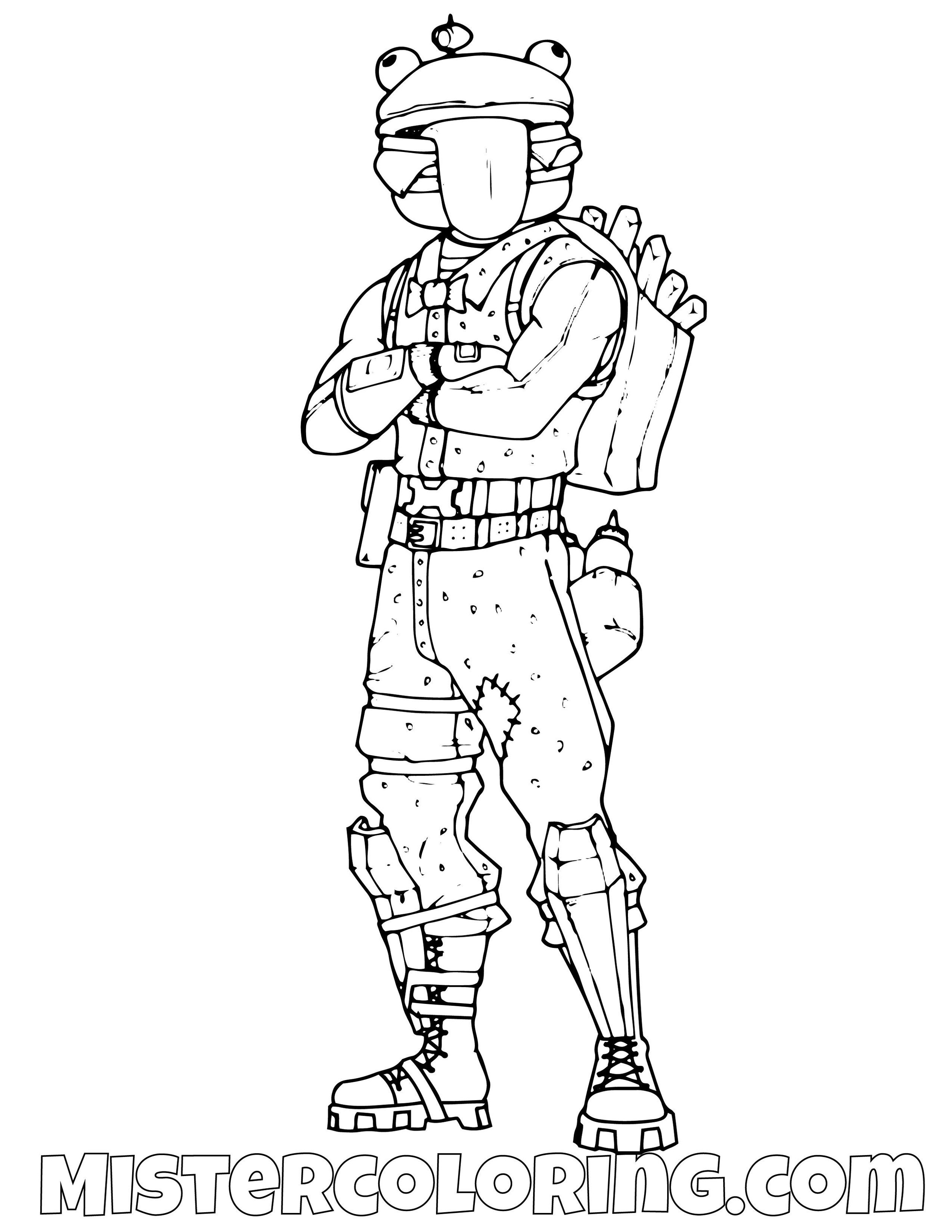 Durr Burger Fortnite Coloring Page