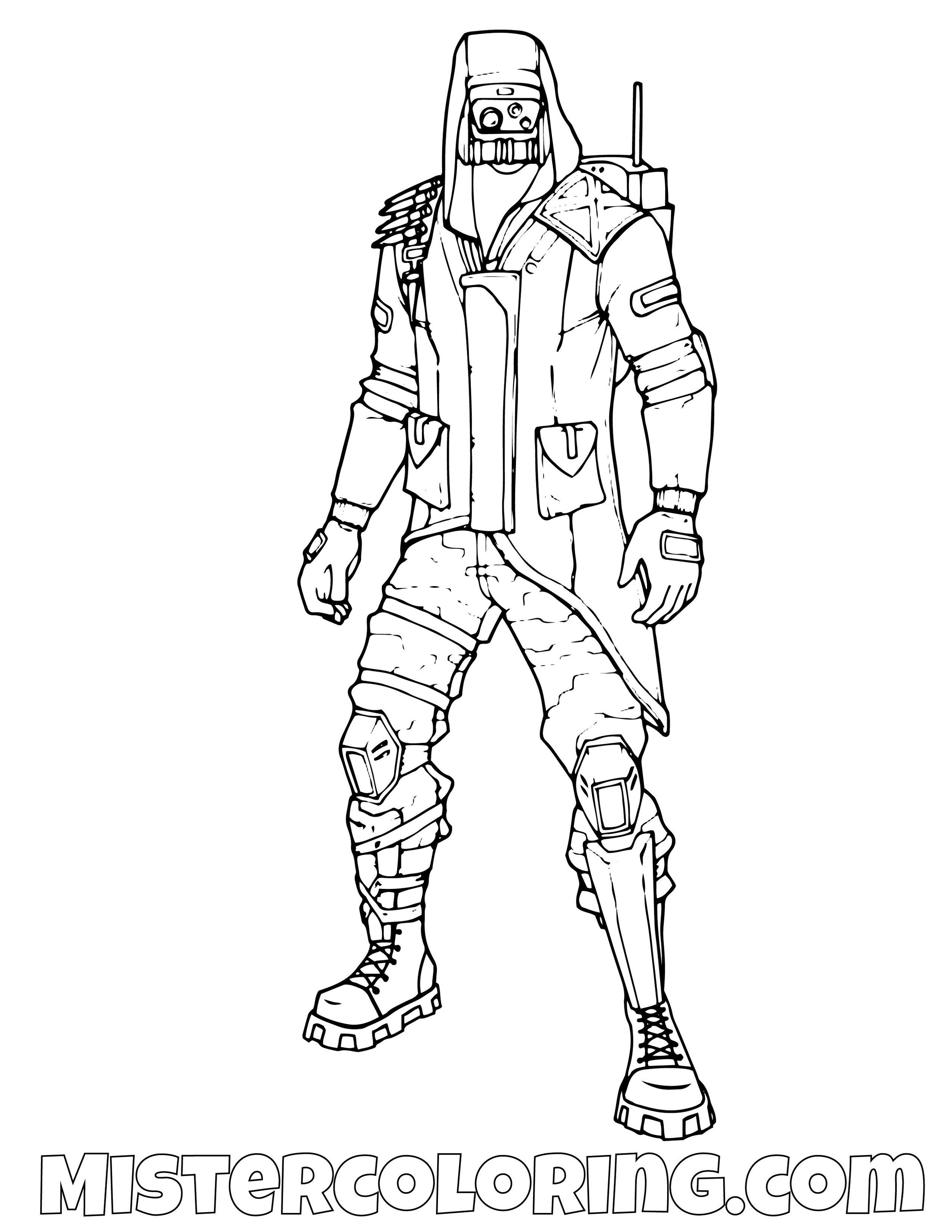 Insight Fortnite Coloring Page