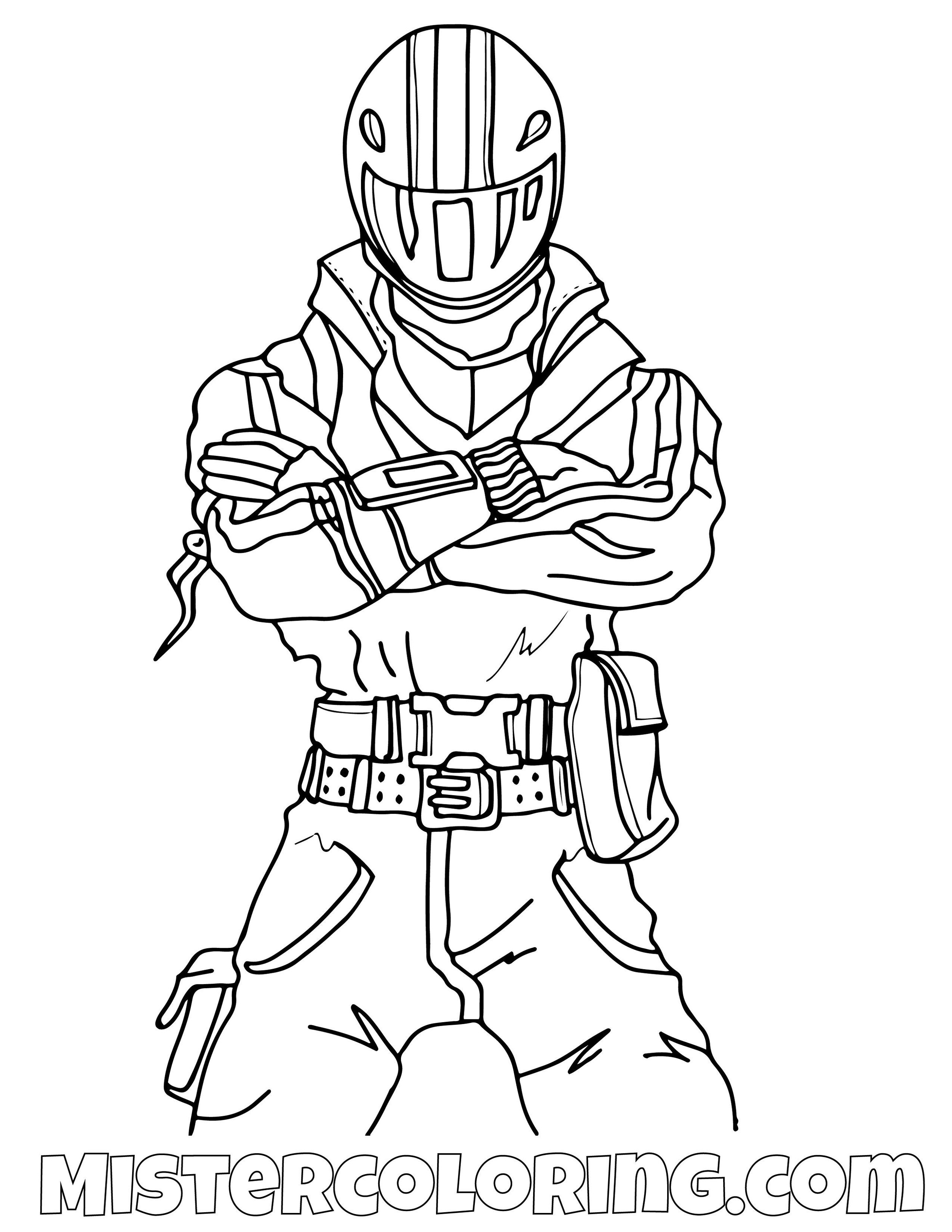 Night Rider Fortnite Coloring Page
