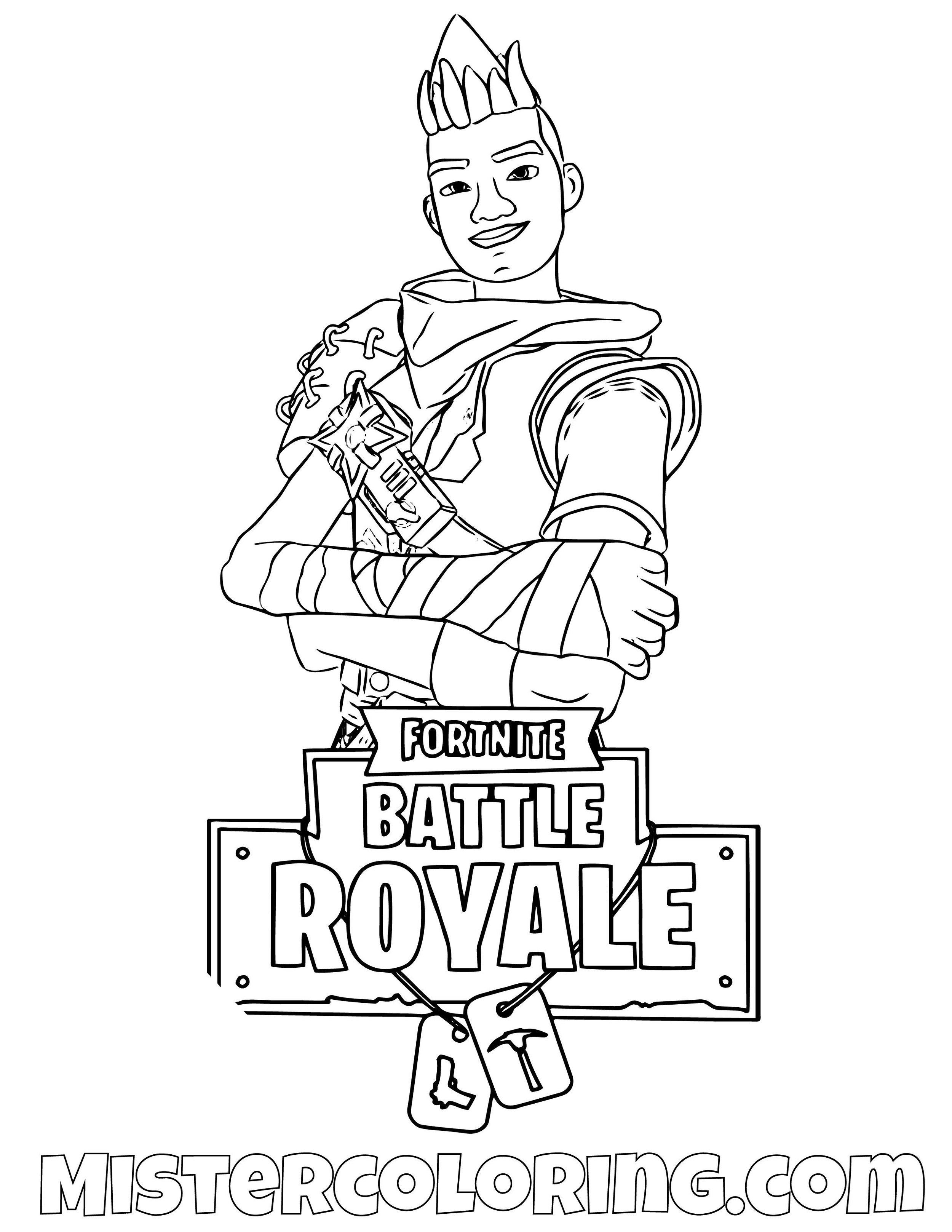 Ninja Fortnite Skin Coloring Page