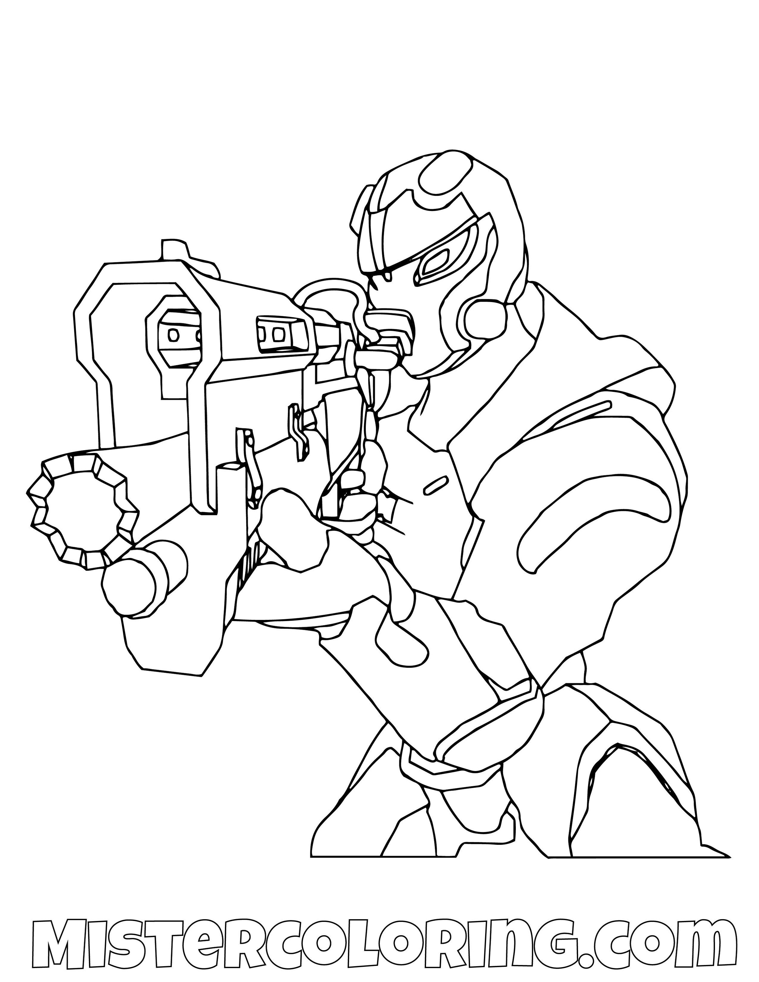 Omega Aiming With Tac Shotgun Fortnite Coloring Page