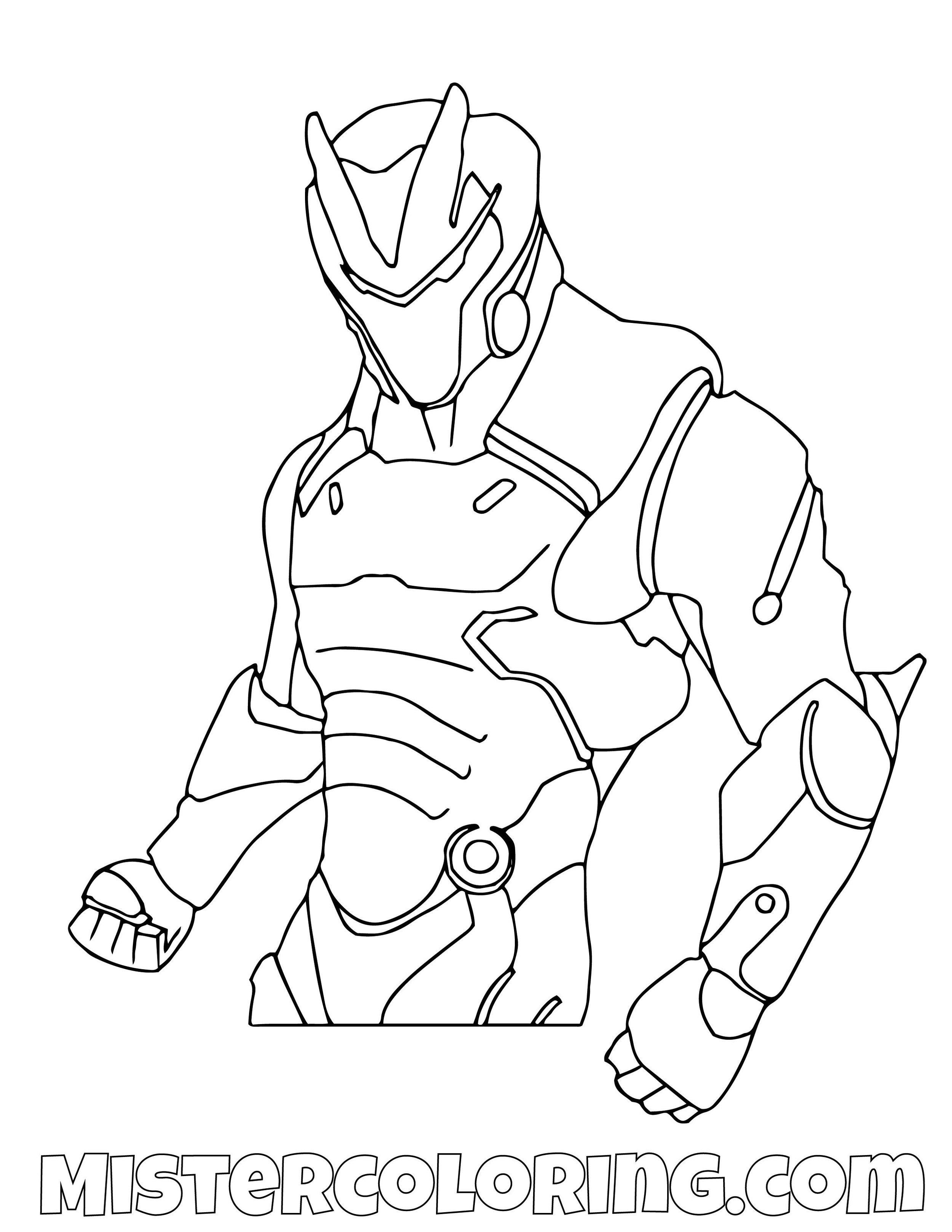 Omega Posing Fortnite Coloring Page