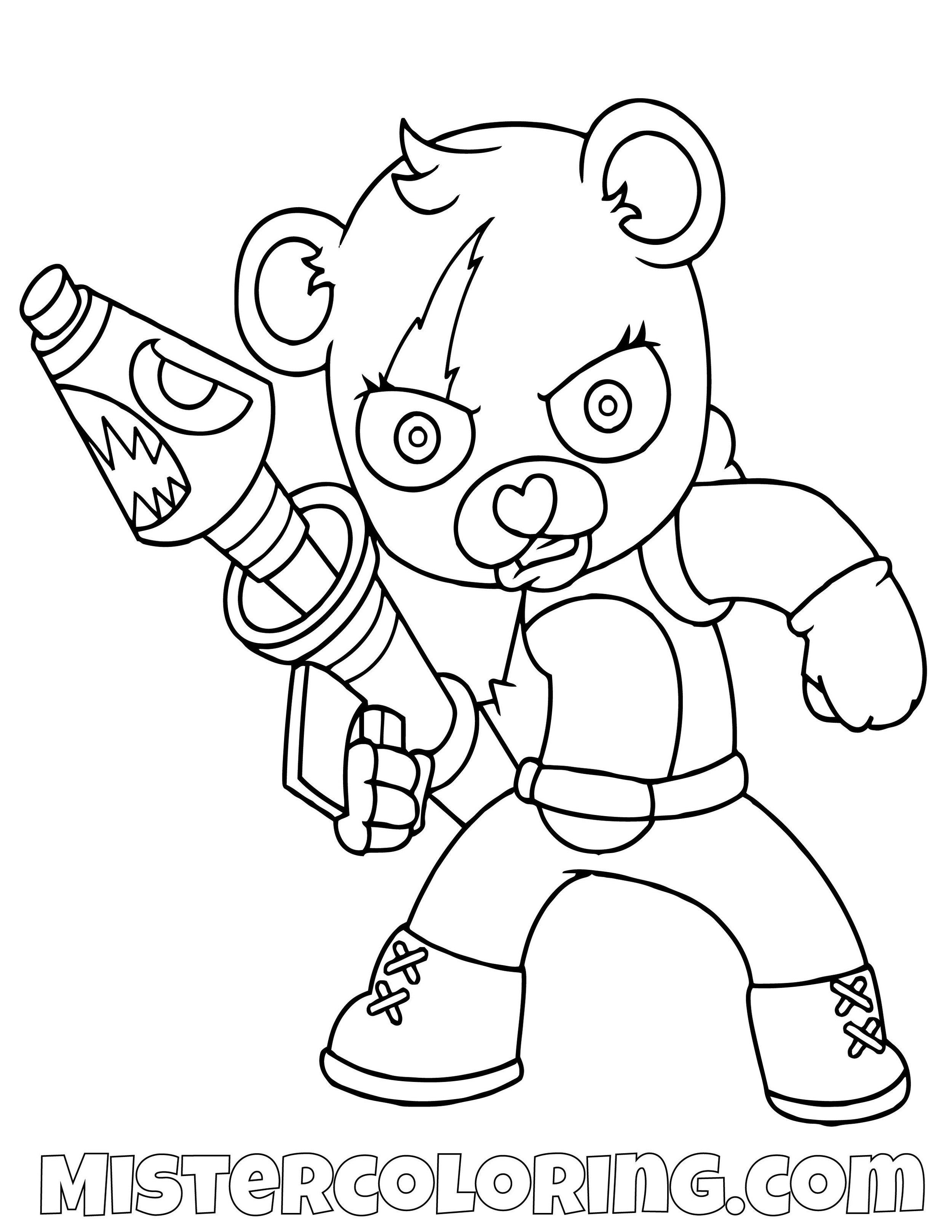 Panda Team Chibi Skin Fortnite Coloring Page