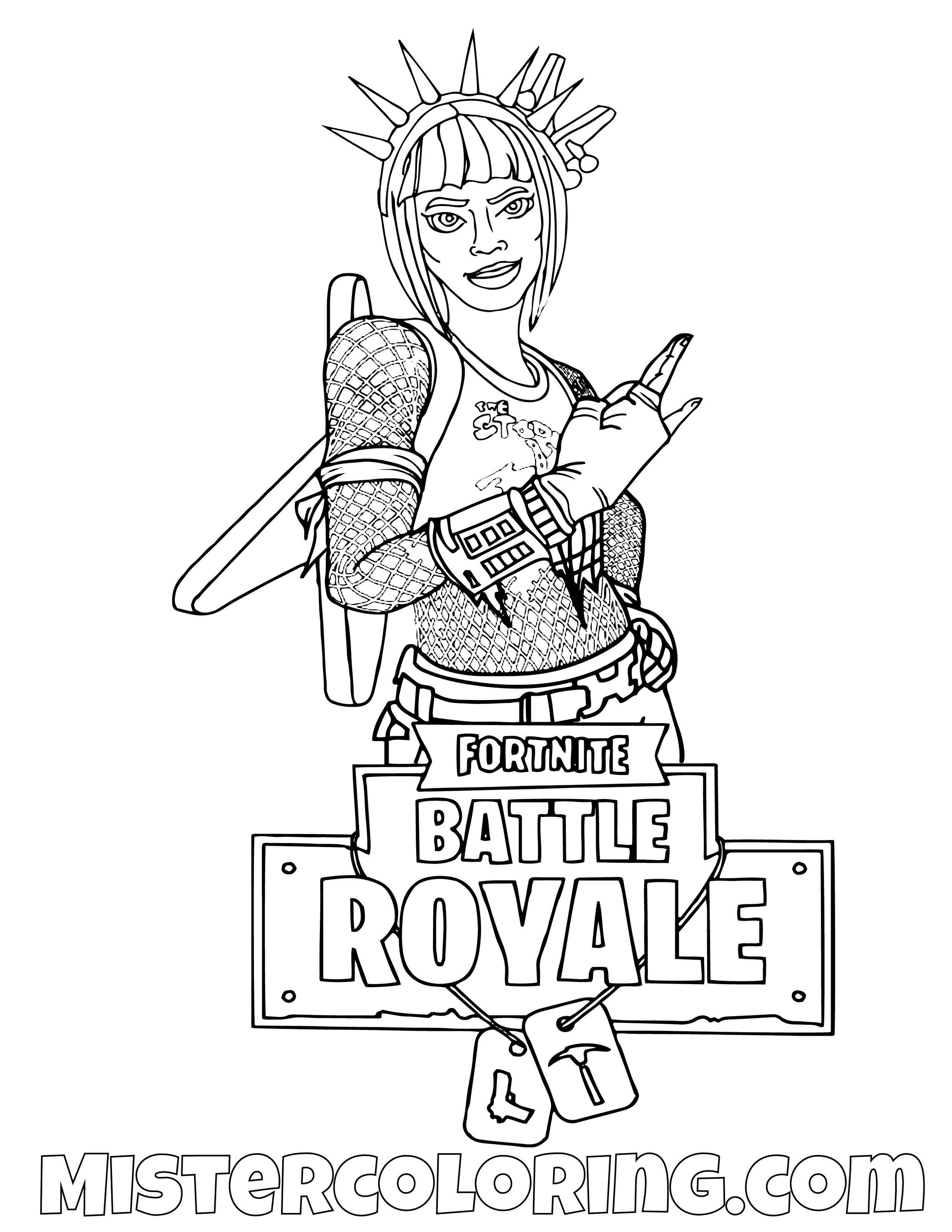 Power Chord Fortnite Skin Coloring Page