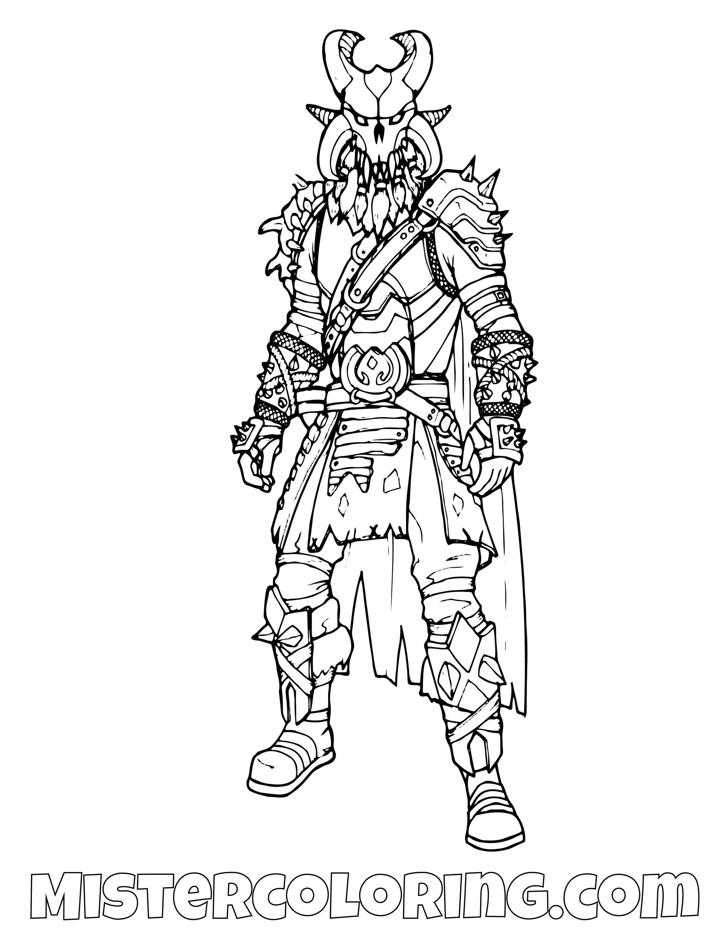 Ragnarok Fortnite Coloring Page
