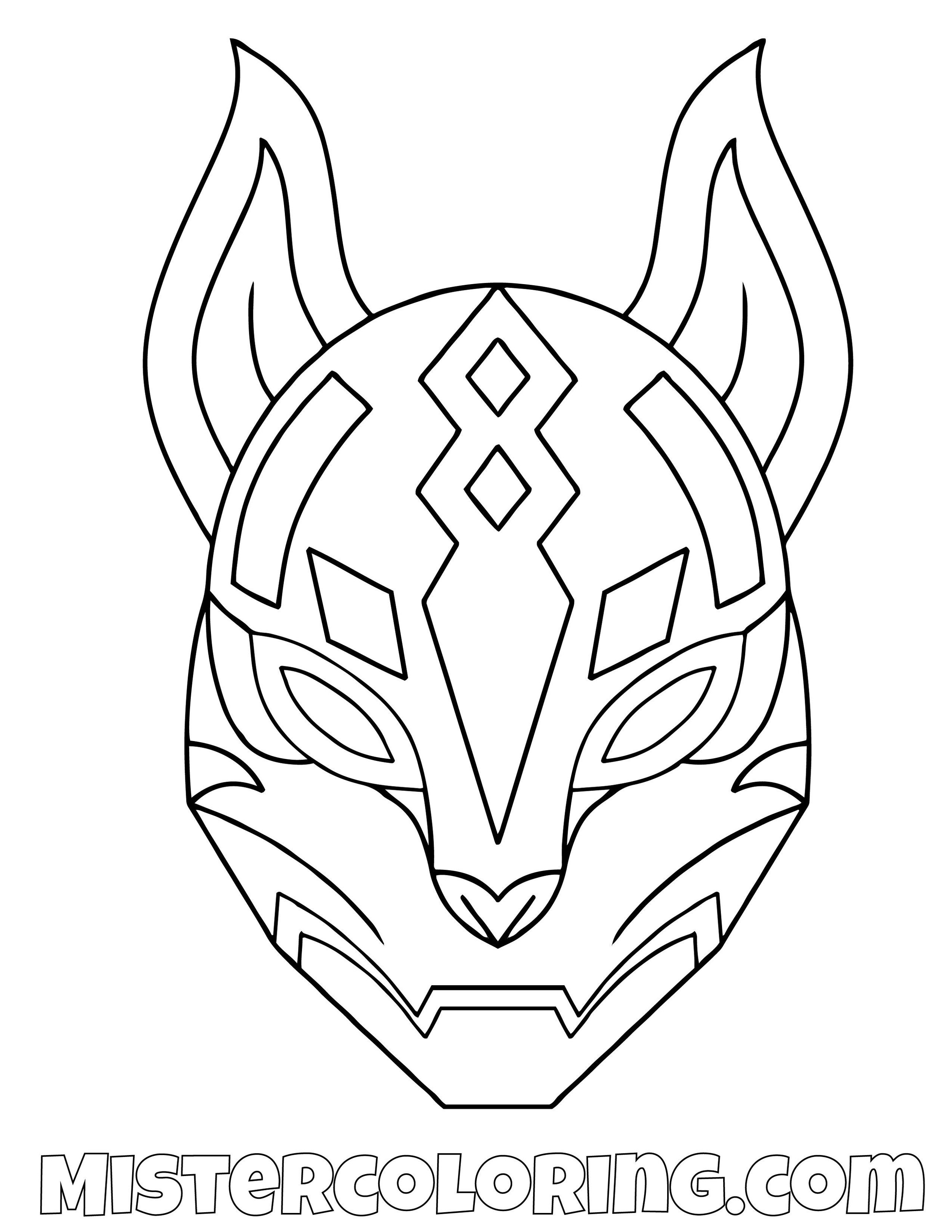 Rift Mask Fortnite Coloring Page