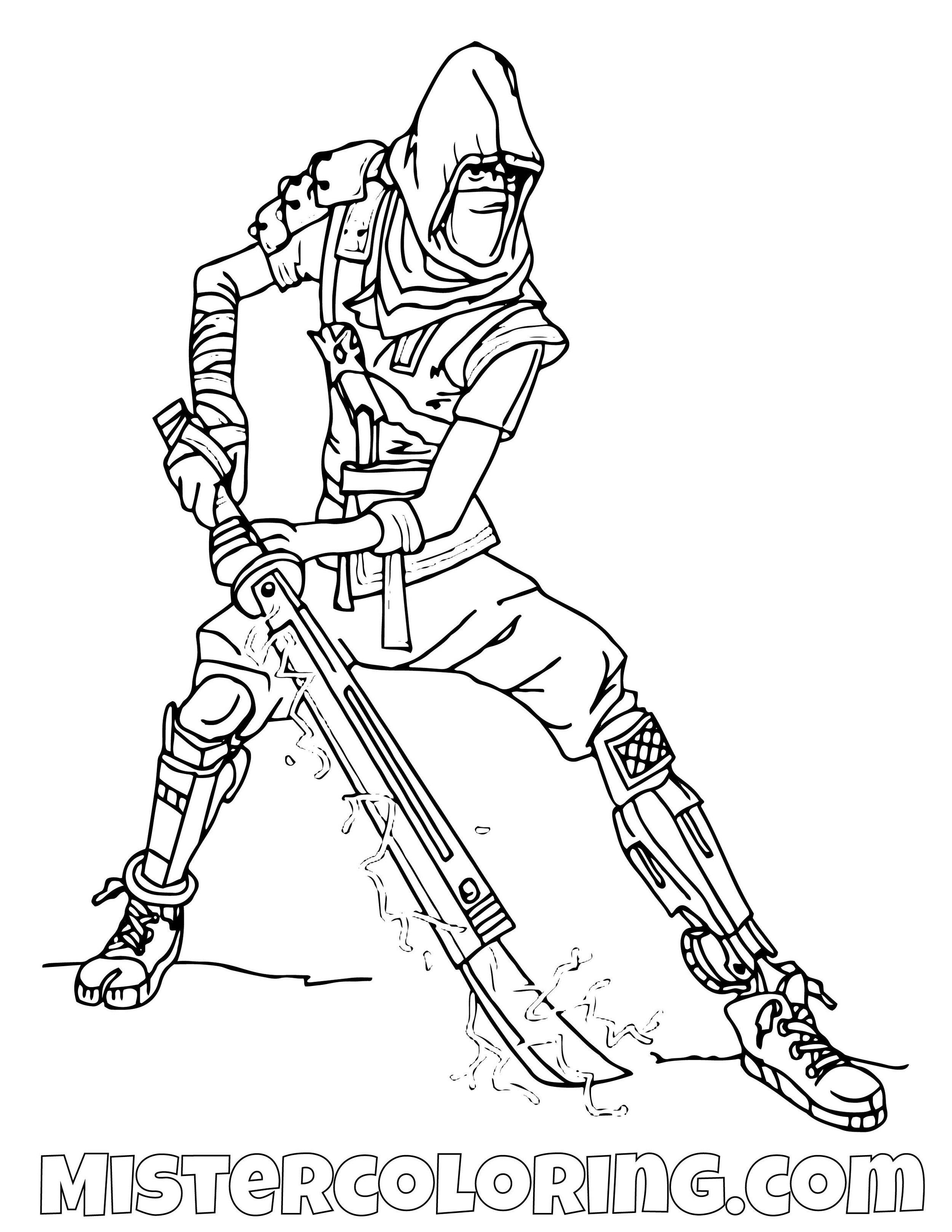 Ninja Save The World Fortnite Coloring Page