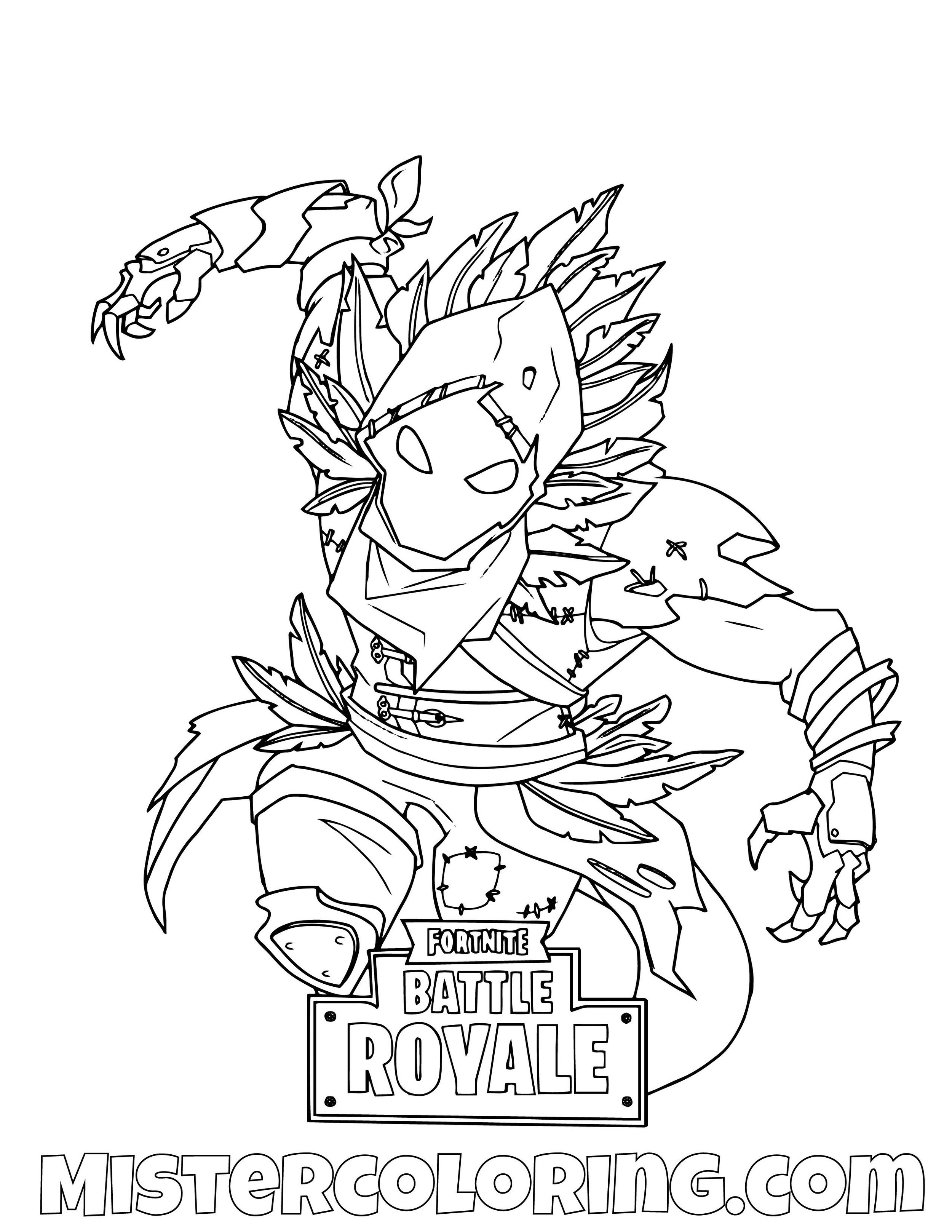 Raven Flying Fortnite Coloring Page
