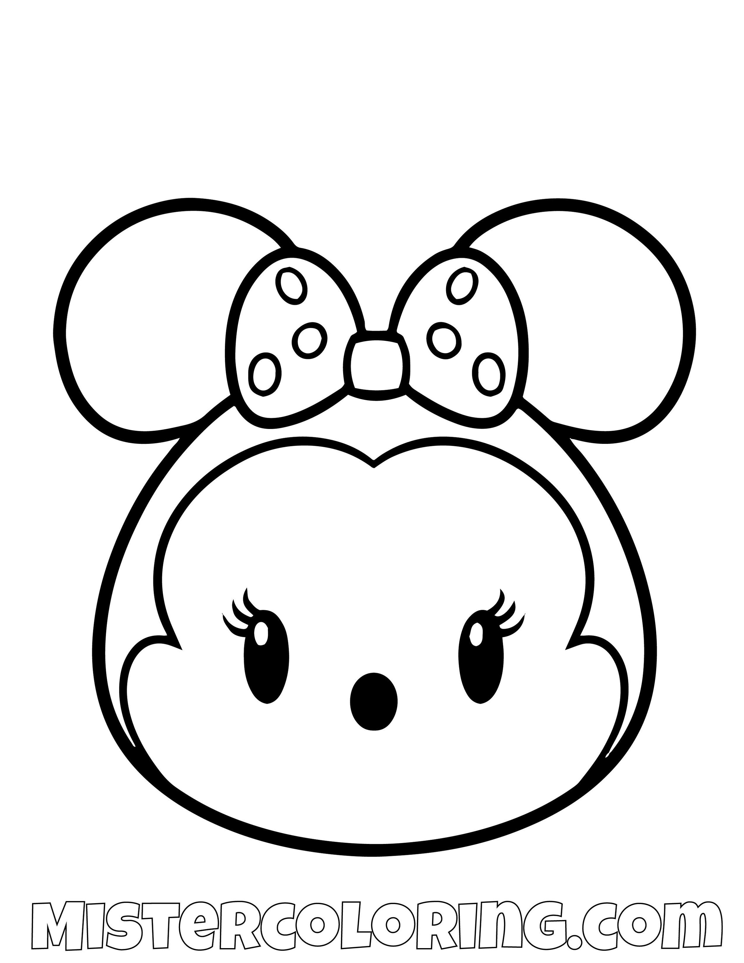 Tsum Tsum Coloring Pages For Kids