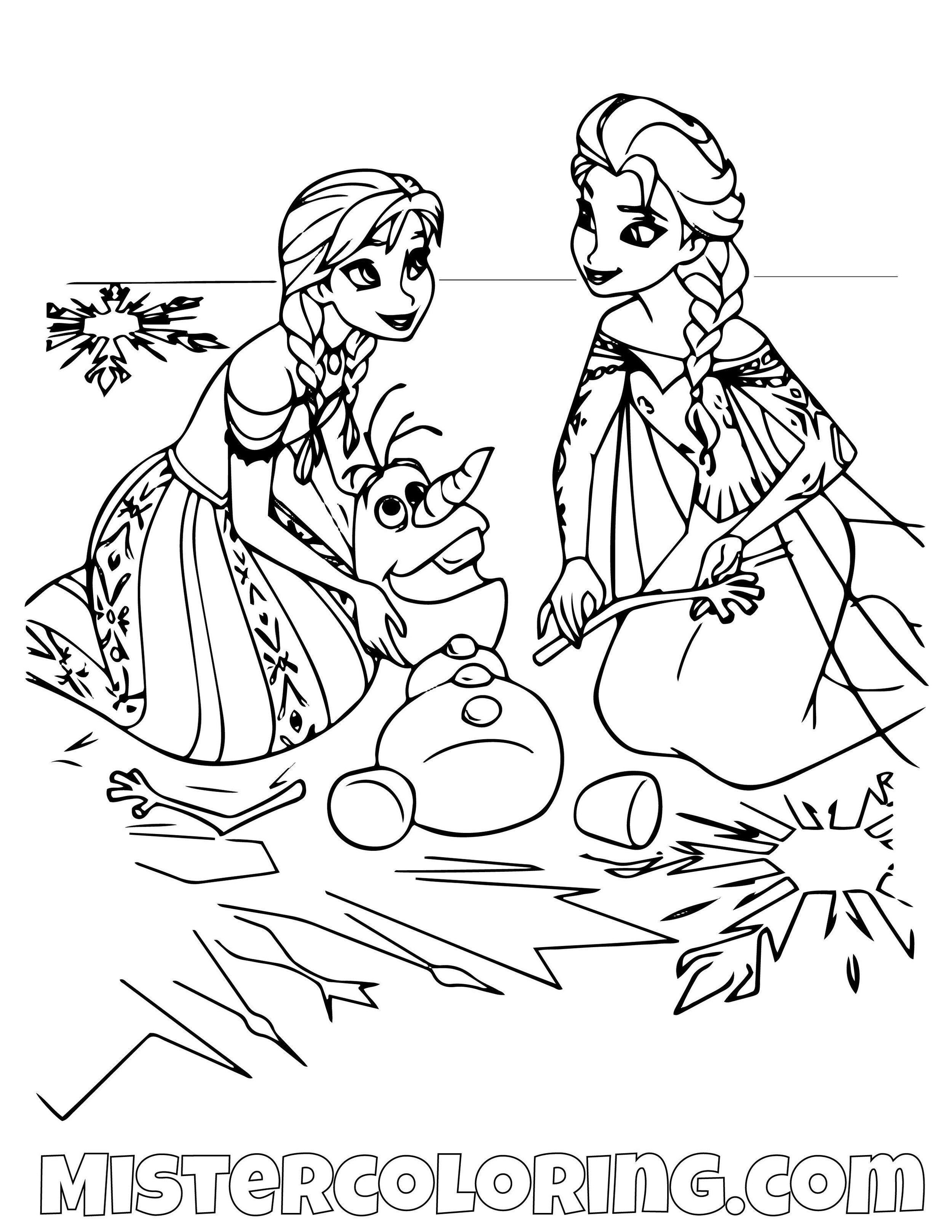 Frozen 2 Coloring Pages For Kids Mister Coloring