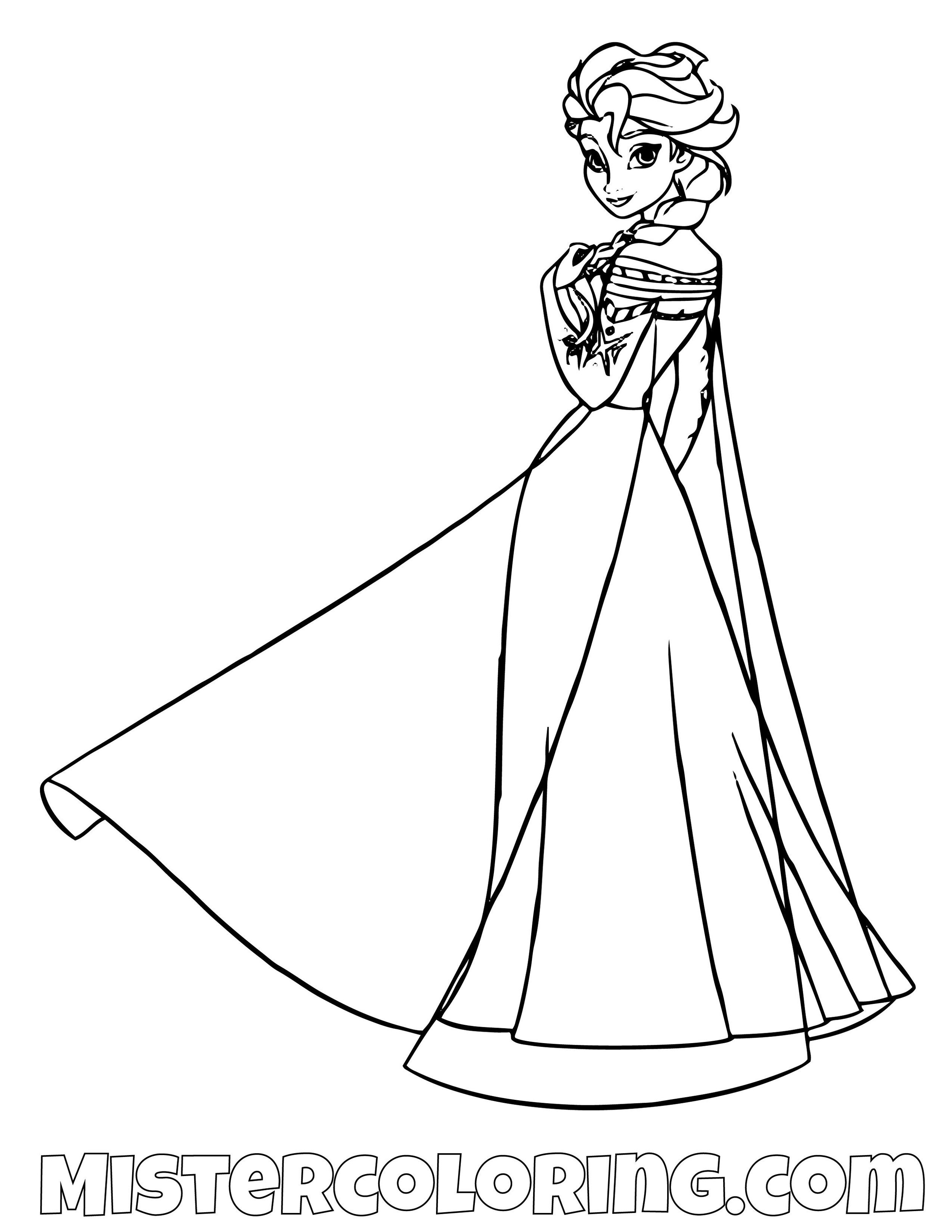 Coloring Pages Of Elsa From Frozen 2 | Super Duper Coloring