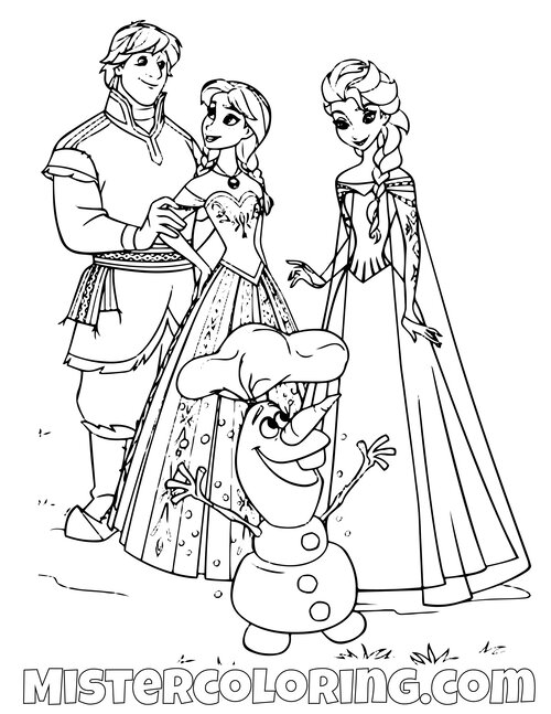 Frozen 2 Coloring Pages Anna Queen - colouring mermaid