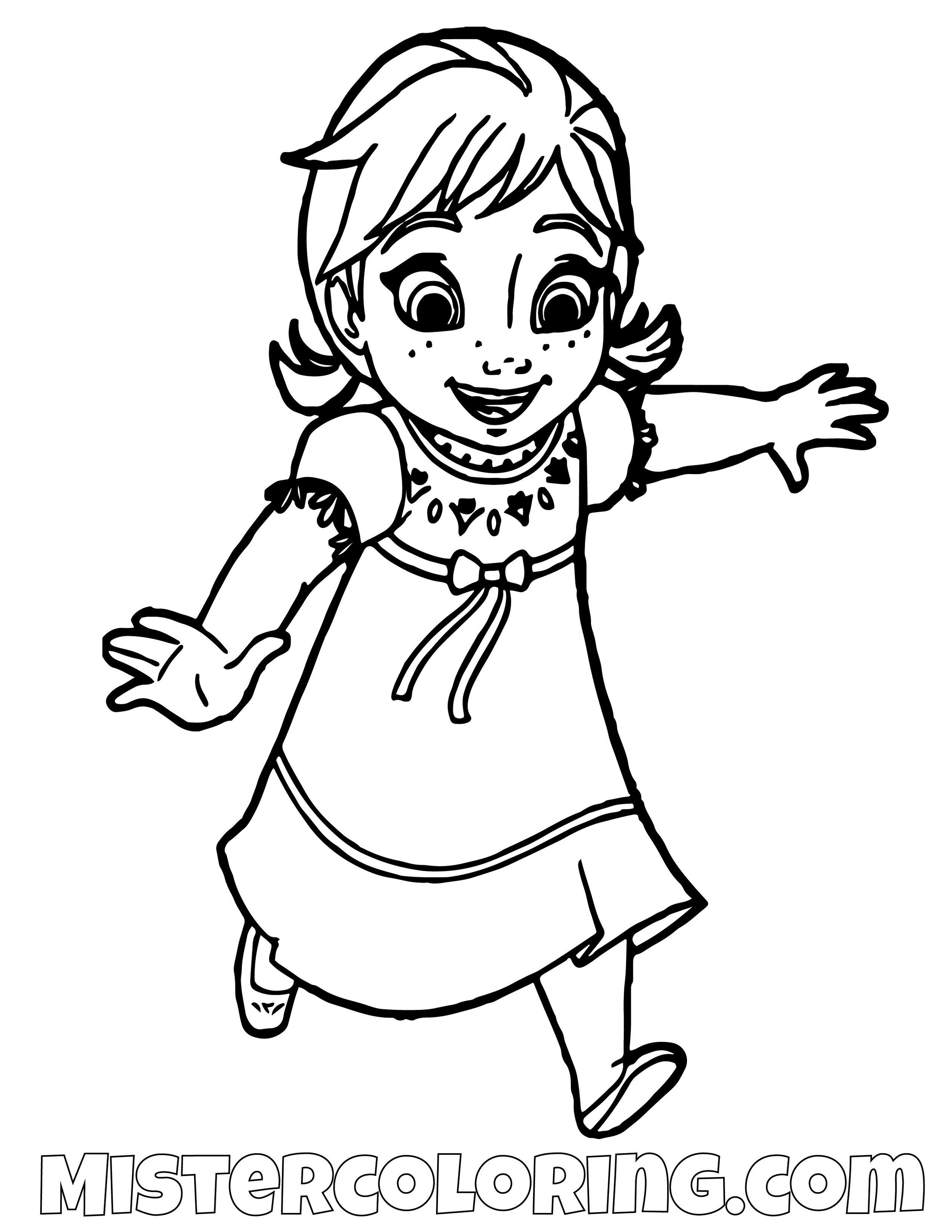 New Coloring | Frozen Princess Anna Coloring Pages | Kids Coloring | 1294x1000