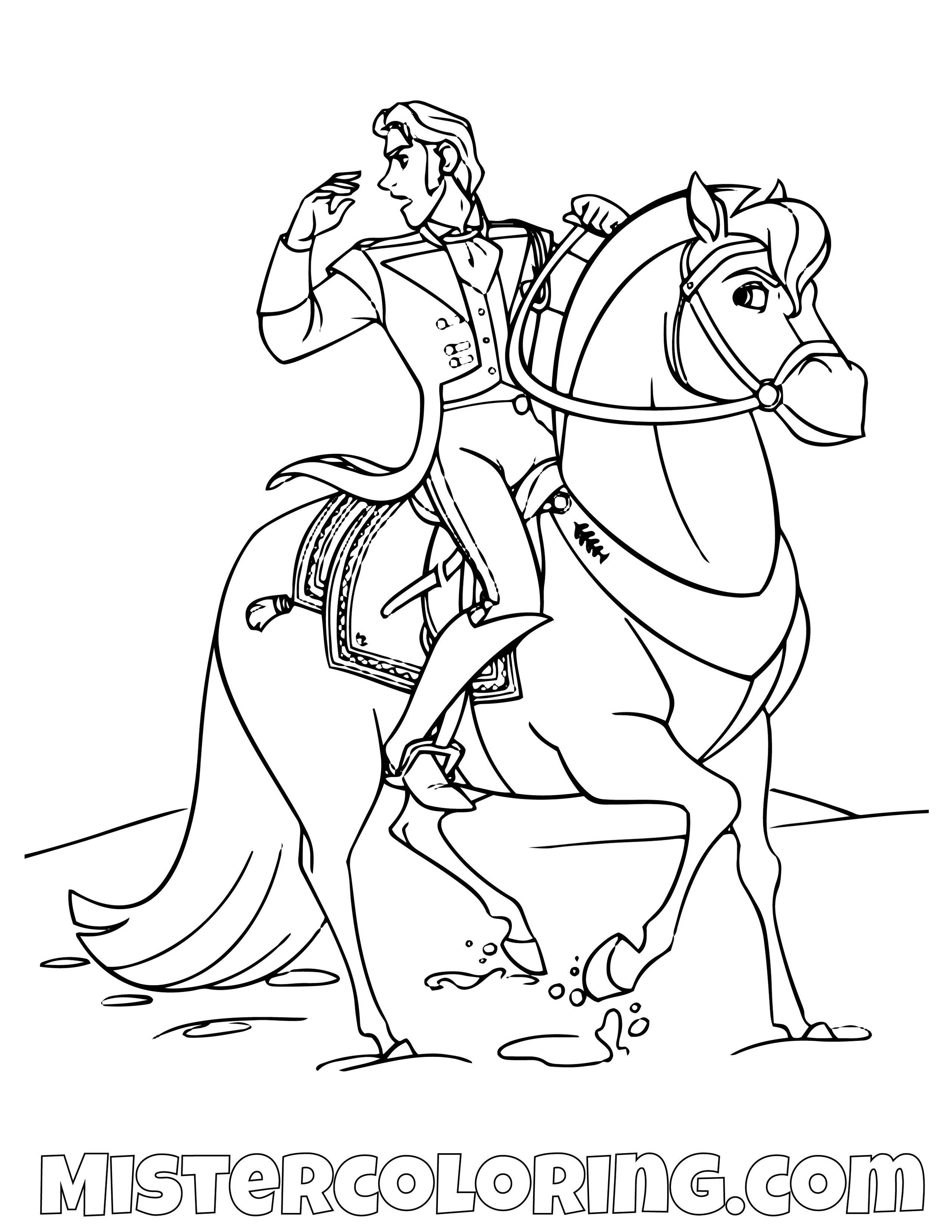 Frozen 2 Ice Horse Coloring Pages - colouring mermaid