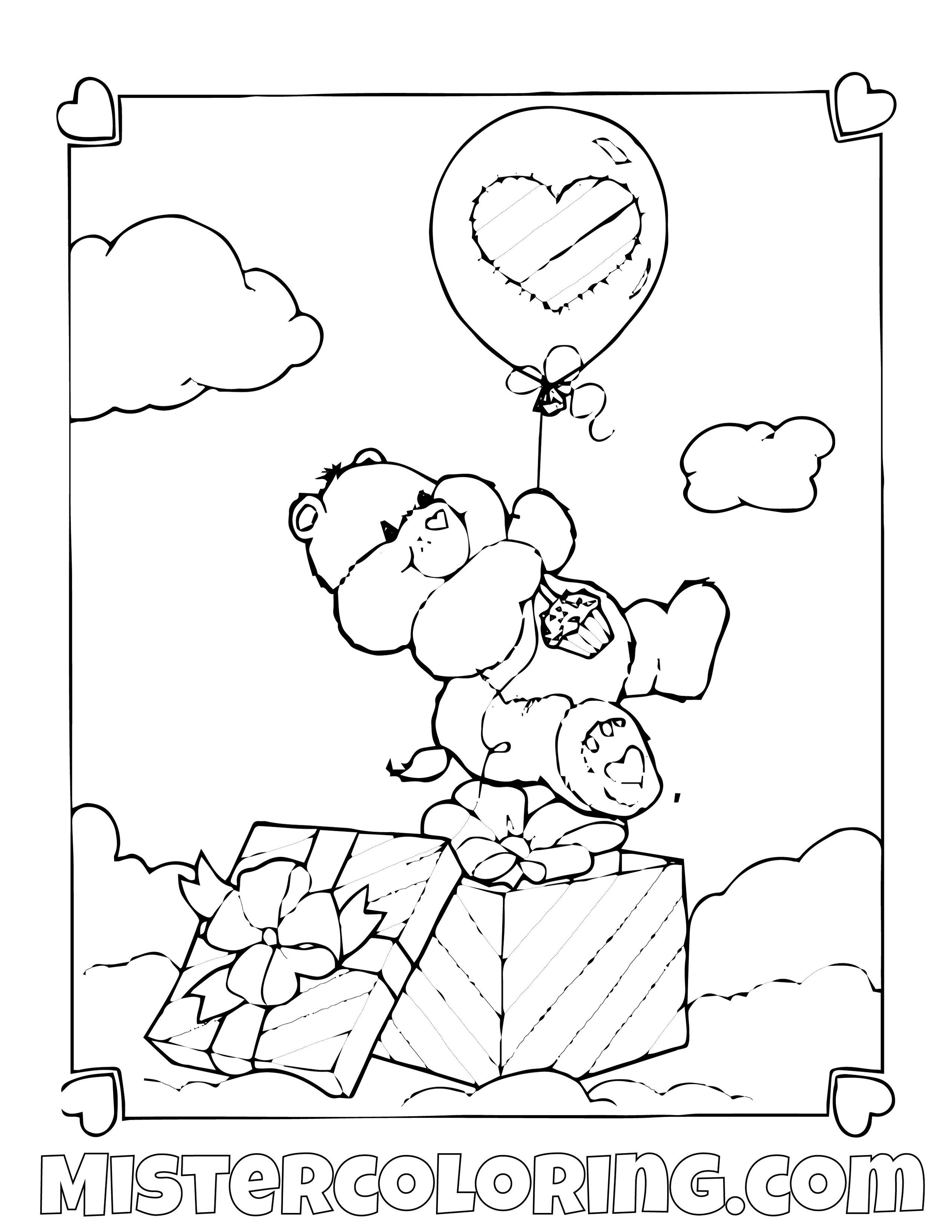Printable Care Bears Coloring Pages For Kids | 1294x1000