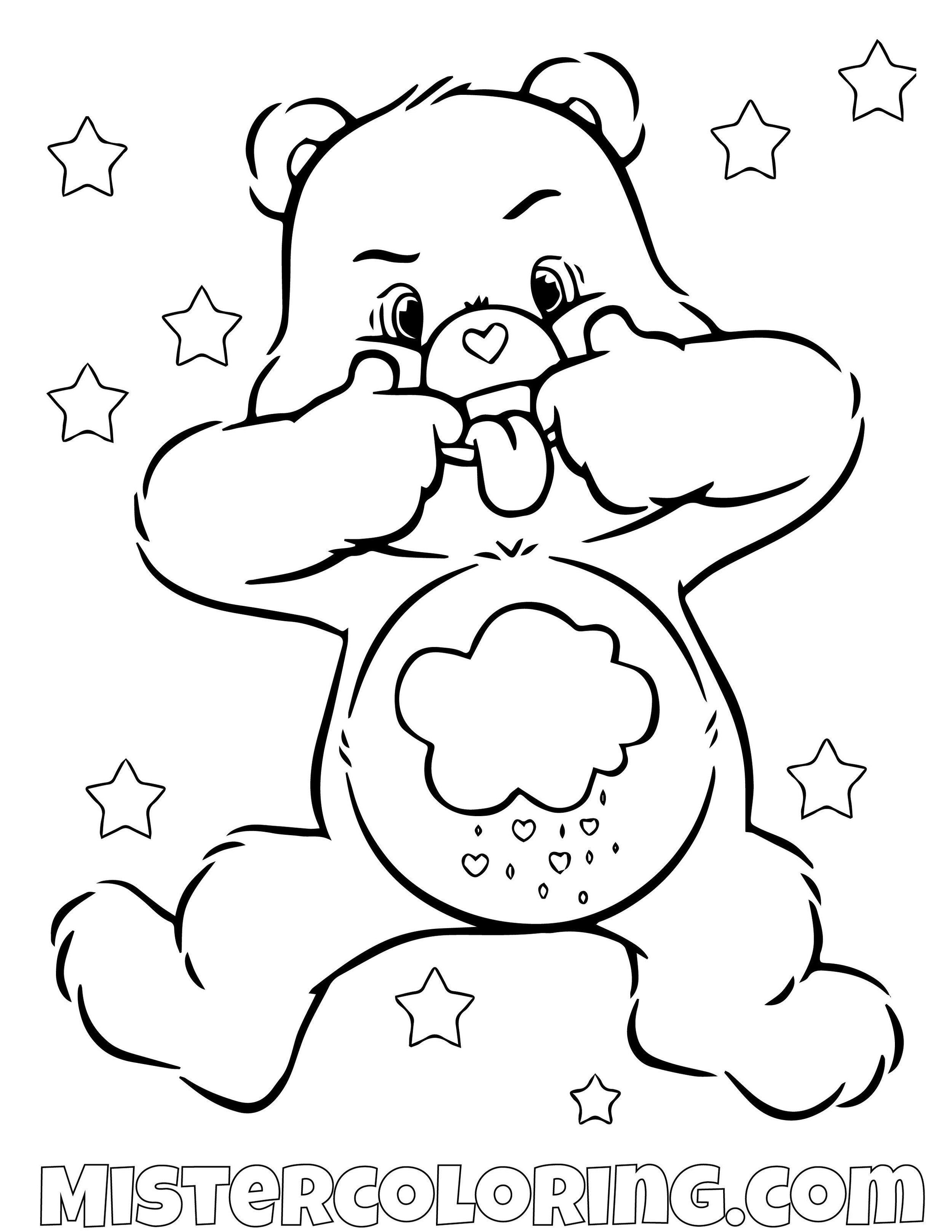 Care Bear Coloring Pages For Kids — Mister Coloring | 1294x1000