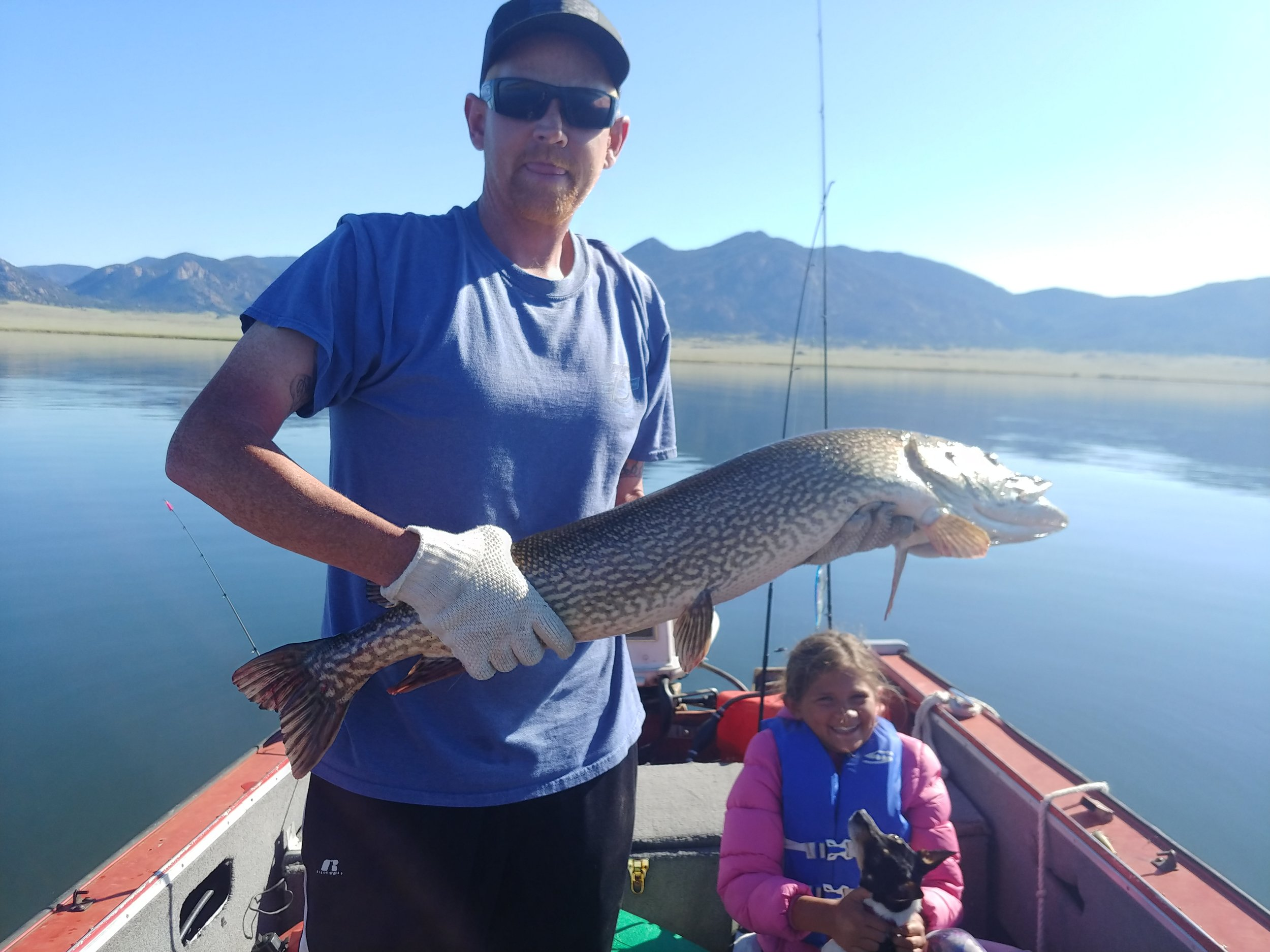 "Darrell Linquist with this 40"" personal best so far…first cast of the morning. Cross Creek"