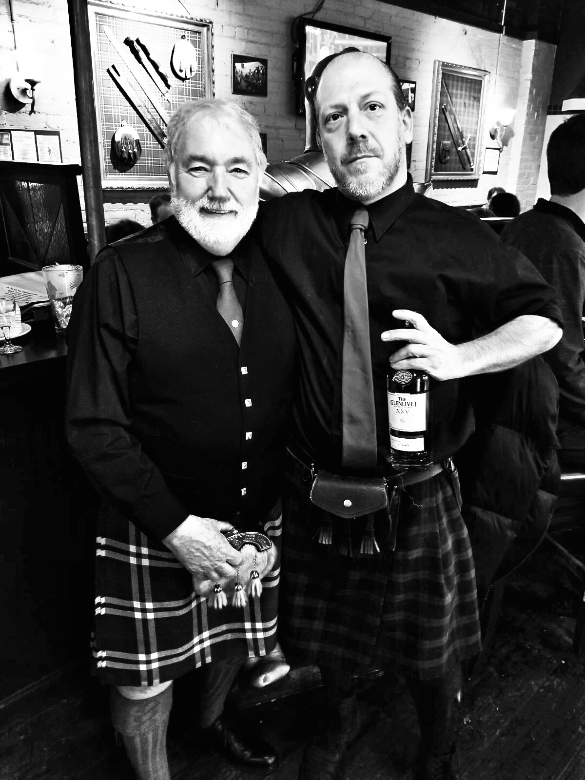 #FrankTheGuardian and our very own Whisky Consultant & Head Bartender, David Sharp